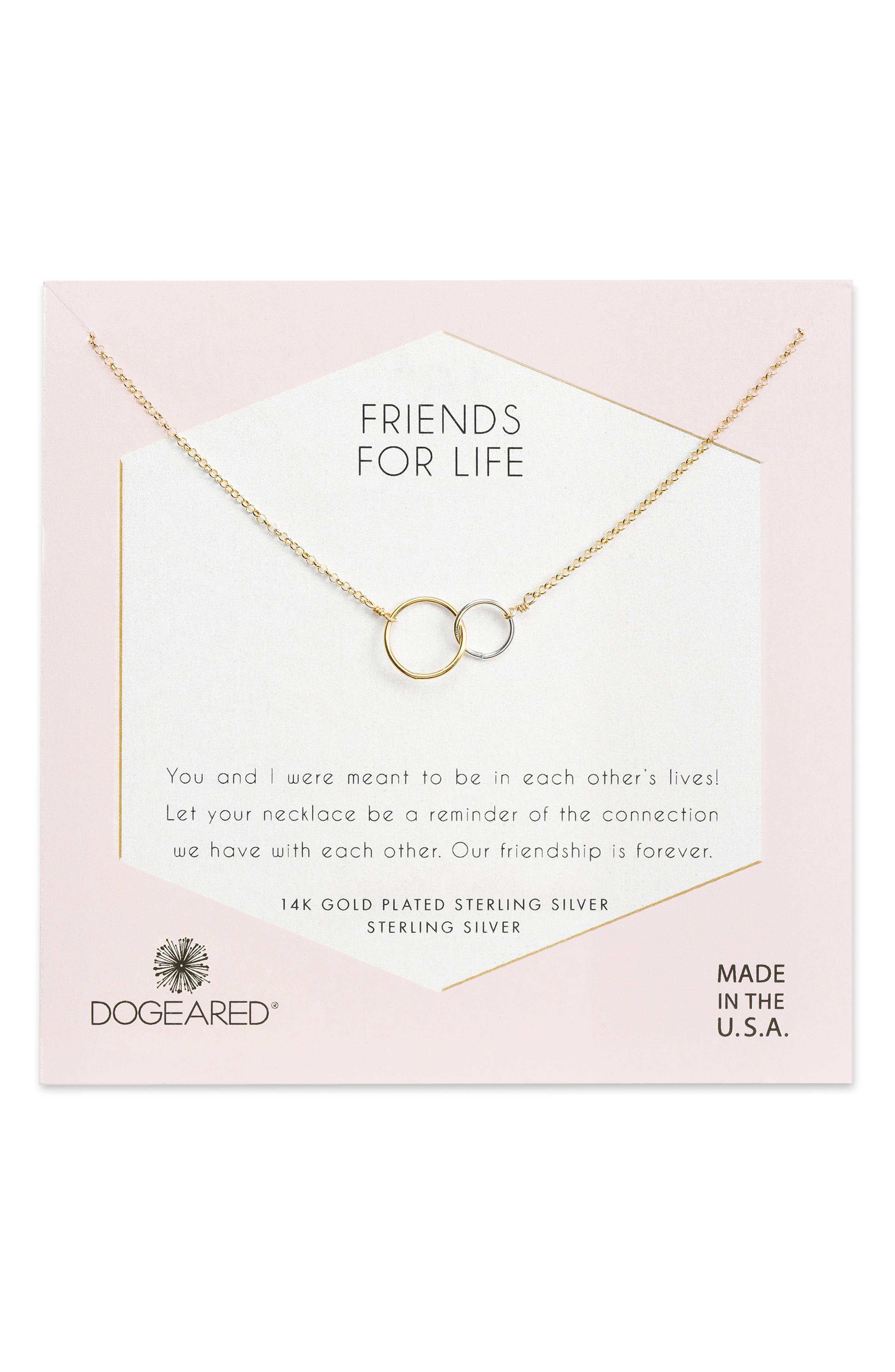 Friends for Life Necklace,                             Main thumbnail 1, color,                             GOLD