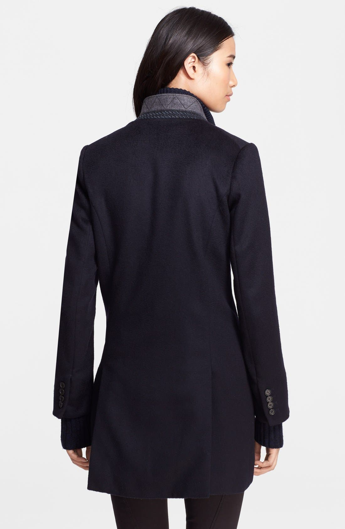 Wool Car Coat with Removable Dickey & Cuffs,                             Alternate thumbnail 2, color,                             410