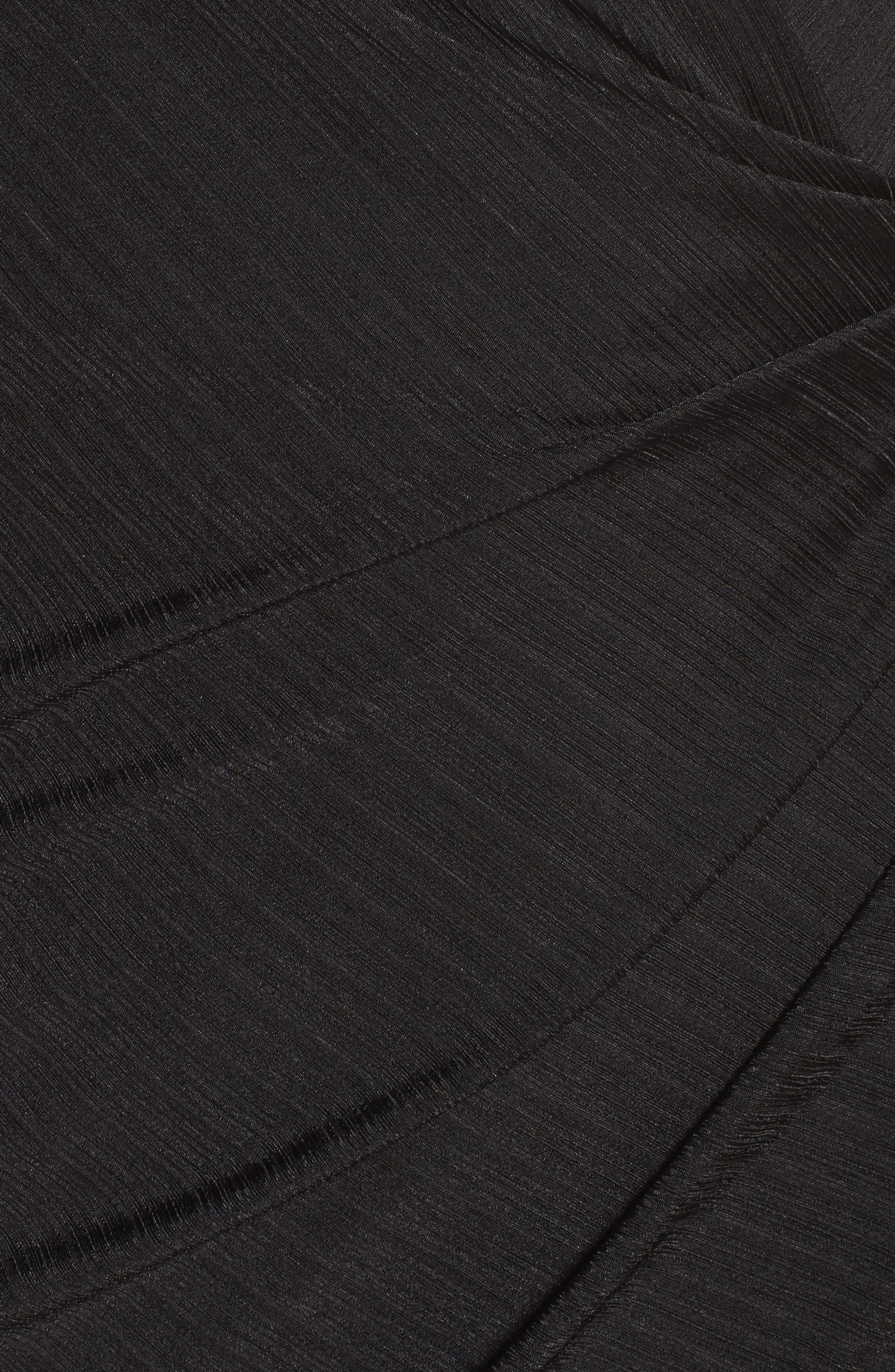Choker Neck Asymmetric Dress,                             Alternate thumbnail 5, color,                             001
