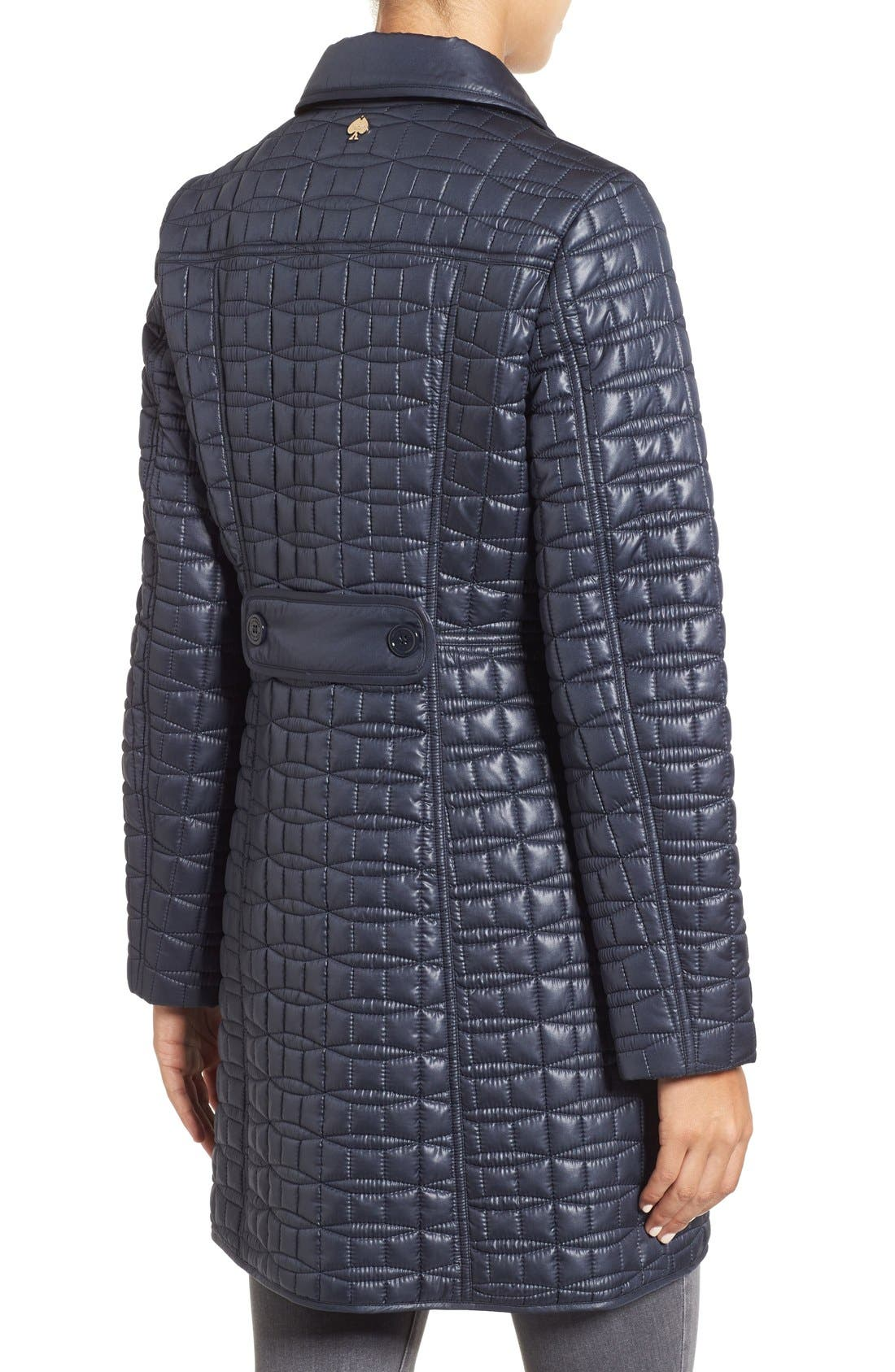 water resistant quilted coat,                             Alternate thumbnail 8, color,
