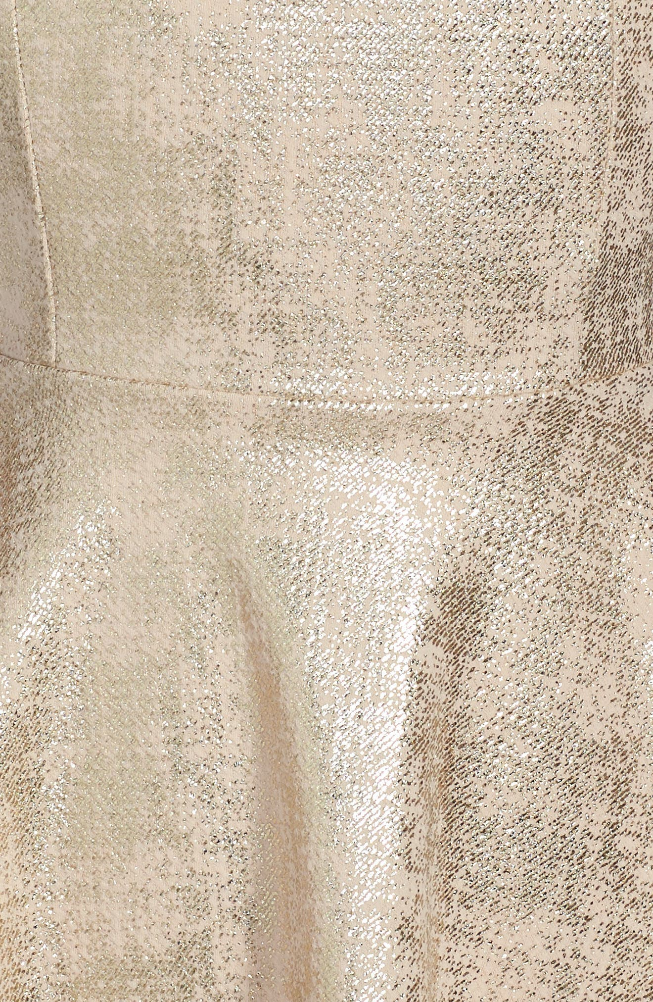 Cap Sleeve Party Dress,                             Alternate thumbnail 3, color,                             710