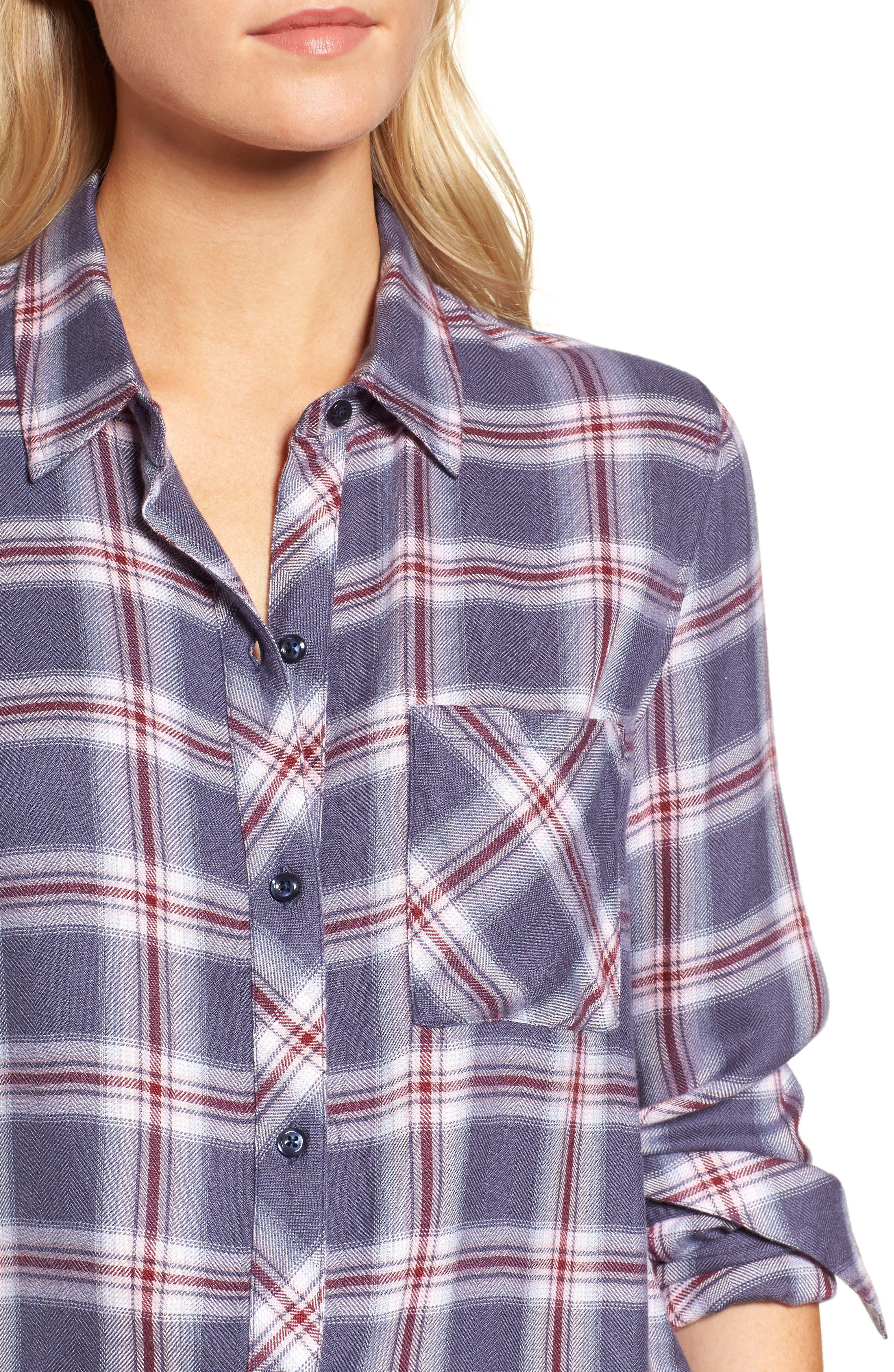 Hunter Plaid Shirt,                             Alternate thumbnail 460, color,