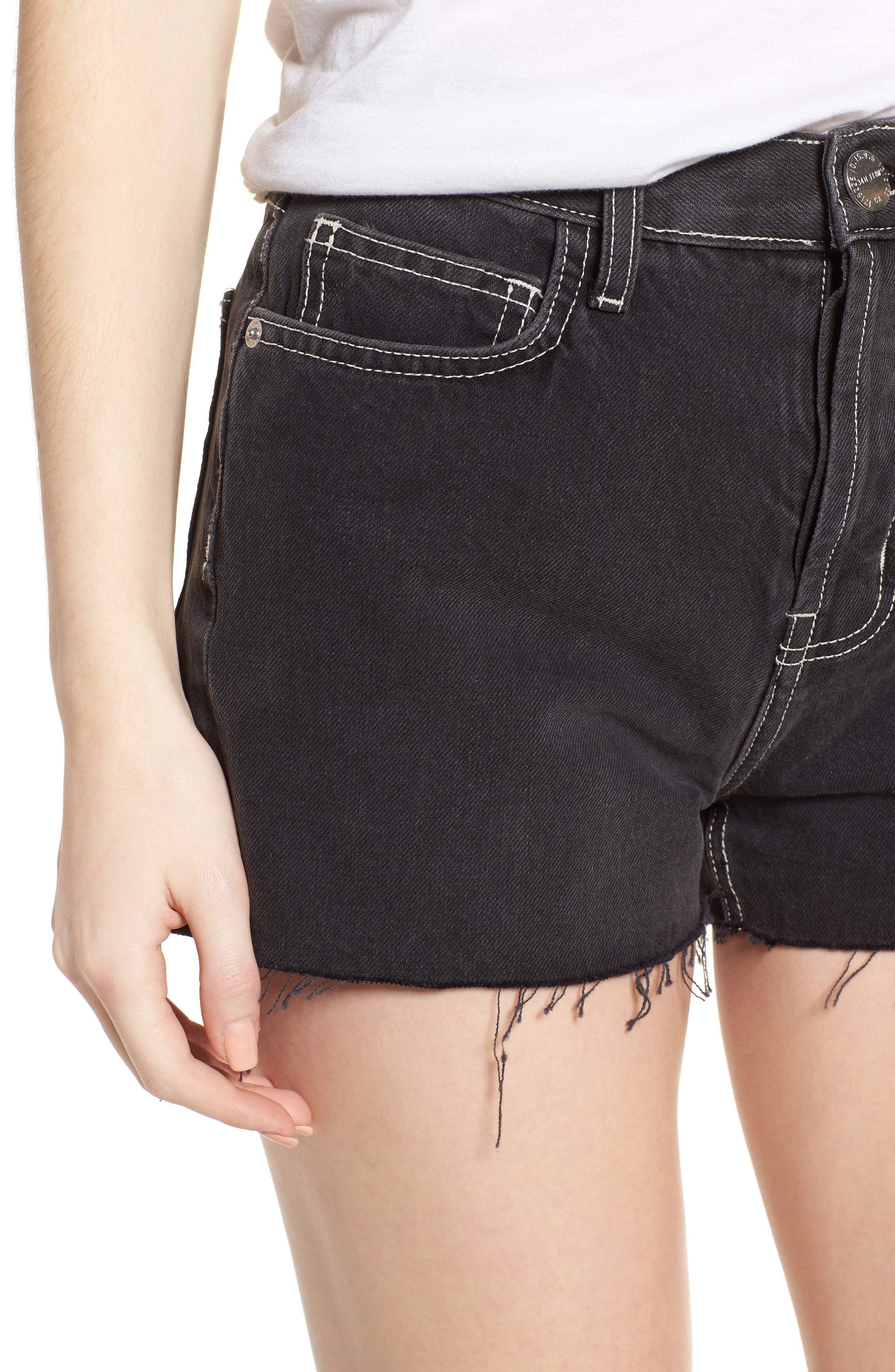 The Ultra High Waist Denim Shorts,                             Alternate thumbnail 4, color,                             006