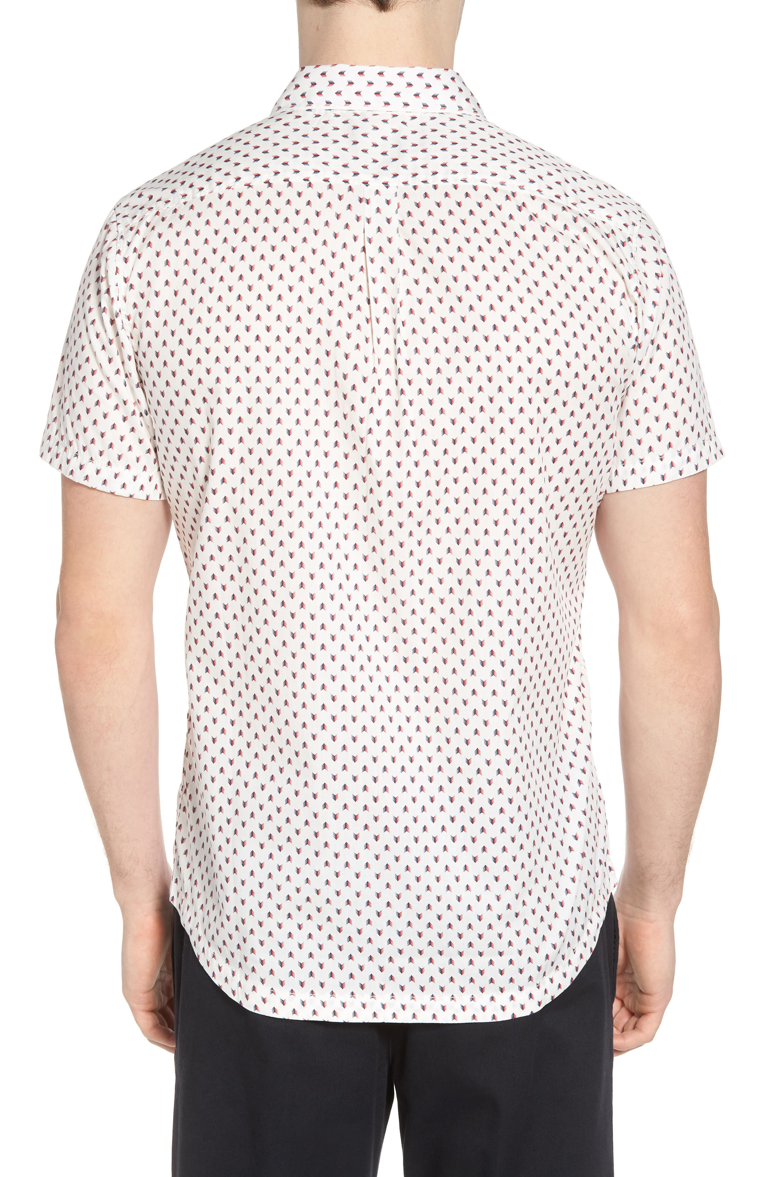 Arrowed Woven Shirt,                             Alternate thumbnail 4, color,