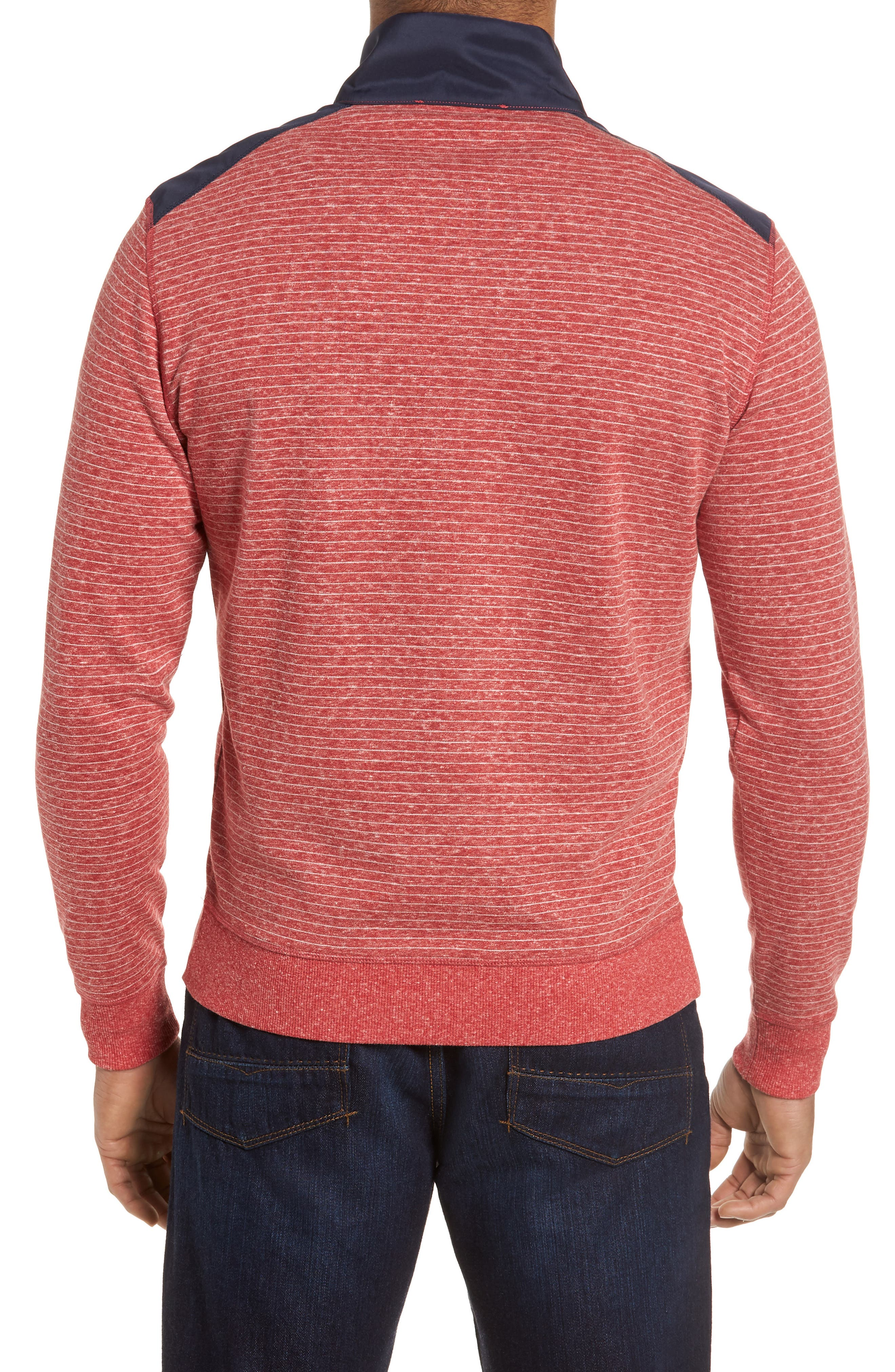 Regular Fit Stripe Quarter Zip Pullover,                             Alternate thumbnail 10, color,
