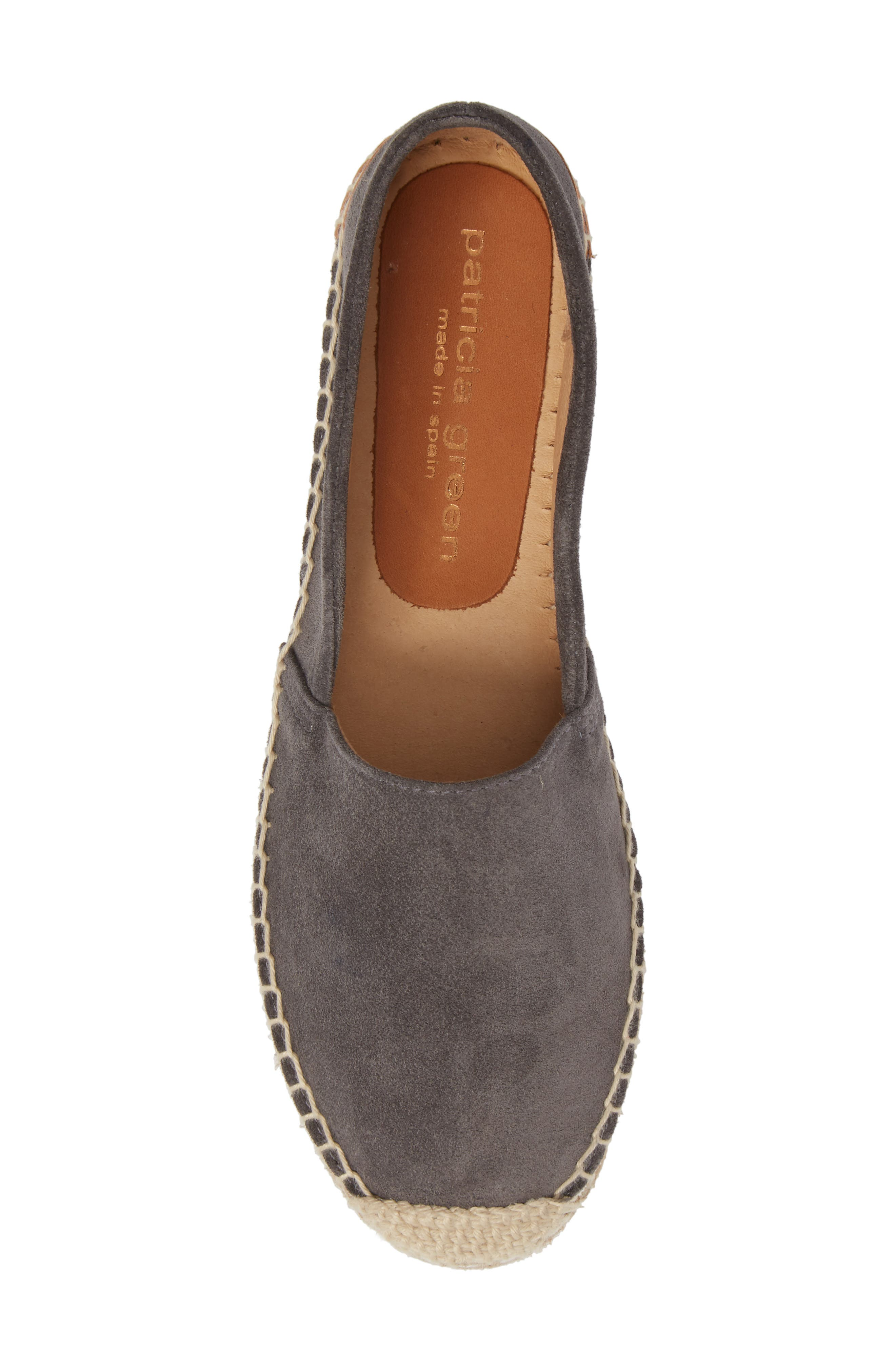 Abigail Espadrille Slip-On,                             Alternate thumbnail 5, color,                             CHARCOAL SUEDE