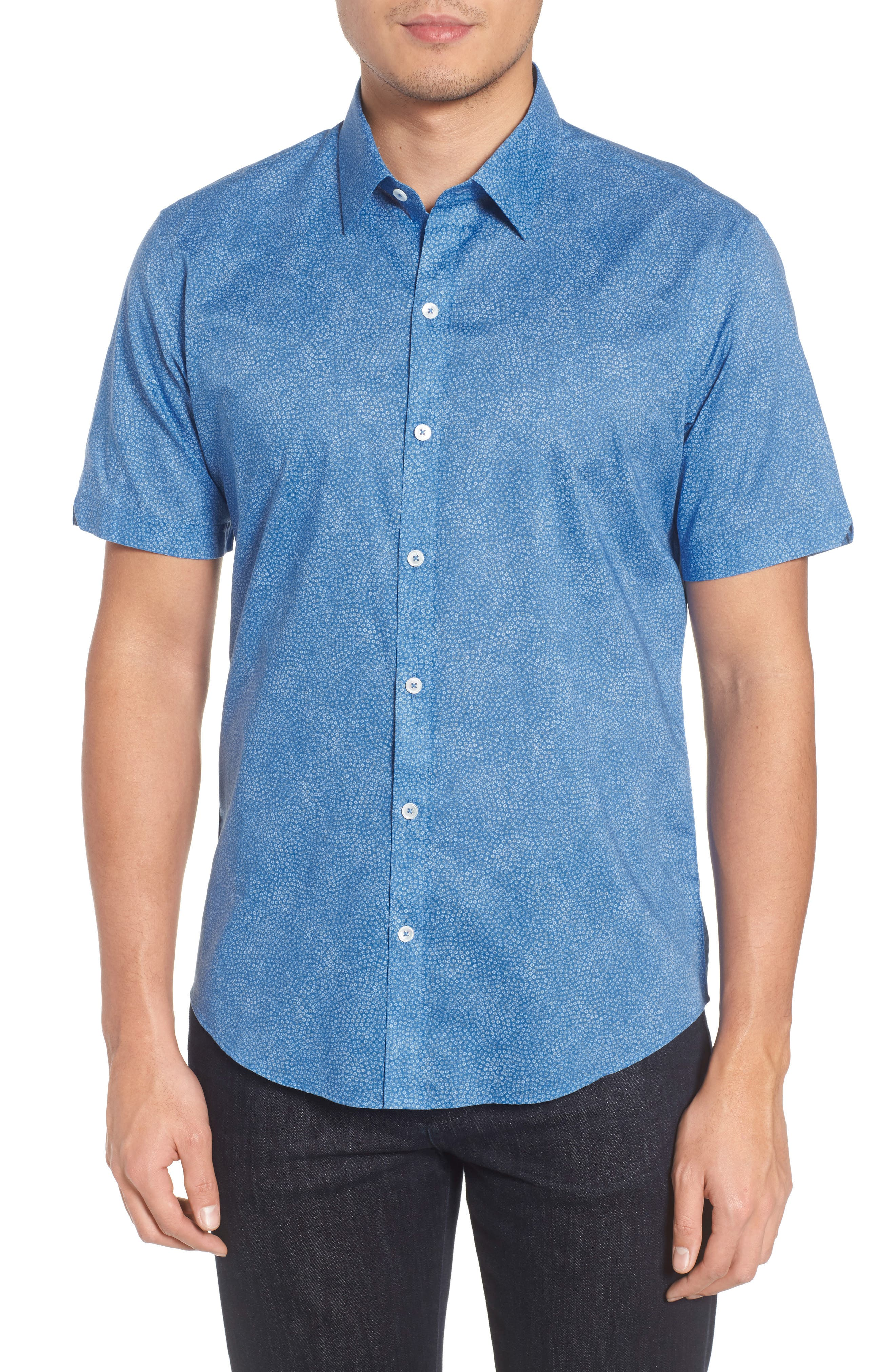 Siguenza Floral Short Sleeve Sport Shirt,                             Main thumbnail 1, color,                             400