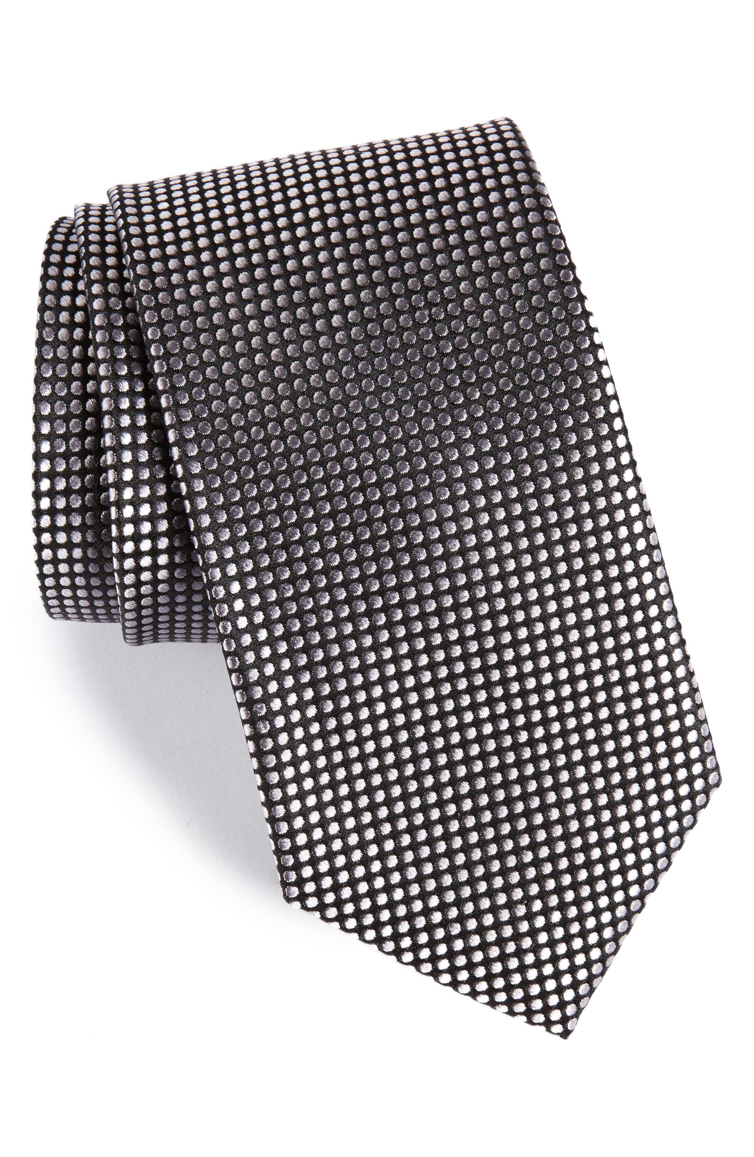 Charlie Dot Silk Tie,                             Main thumbnail 2, color,