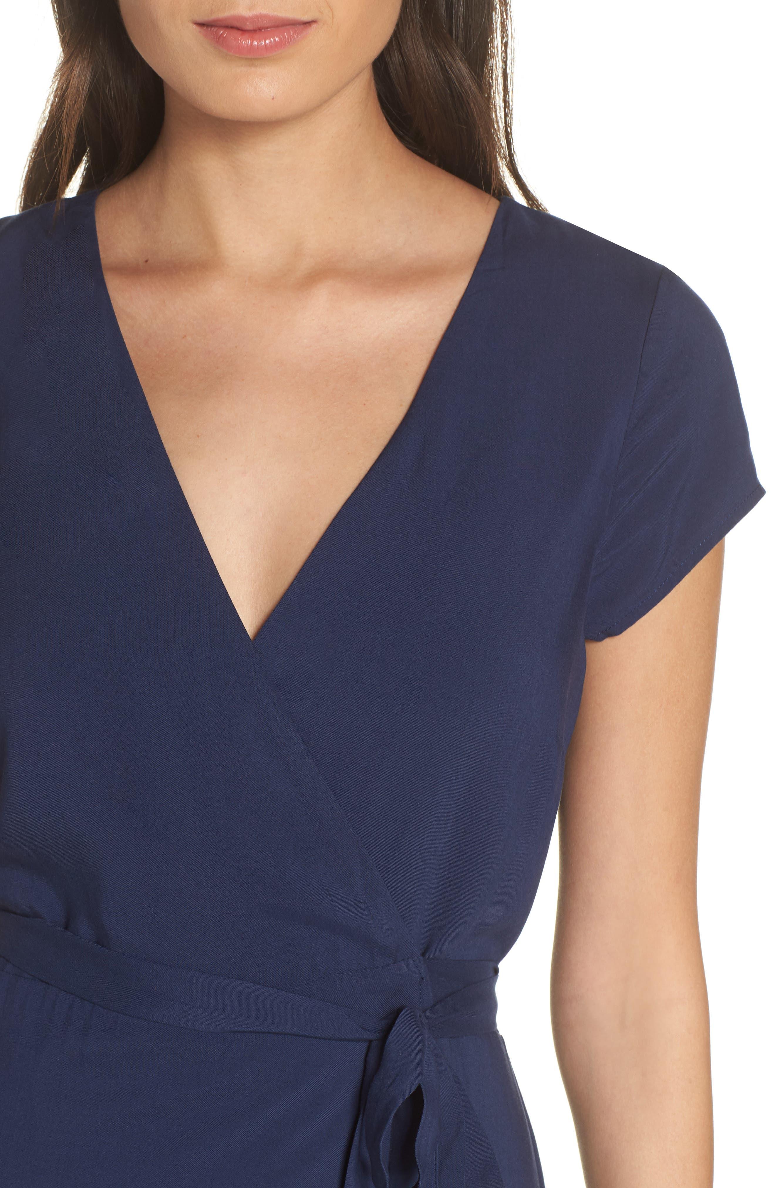 Goa Cover-Up Maxi Wrap Dress,                             Alternate thumbnail 4, color,                             MIDNIGHT BLUE