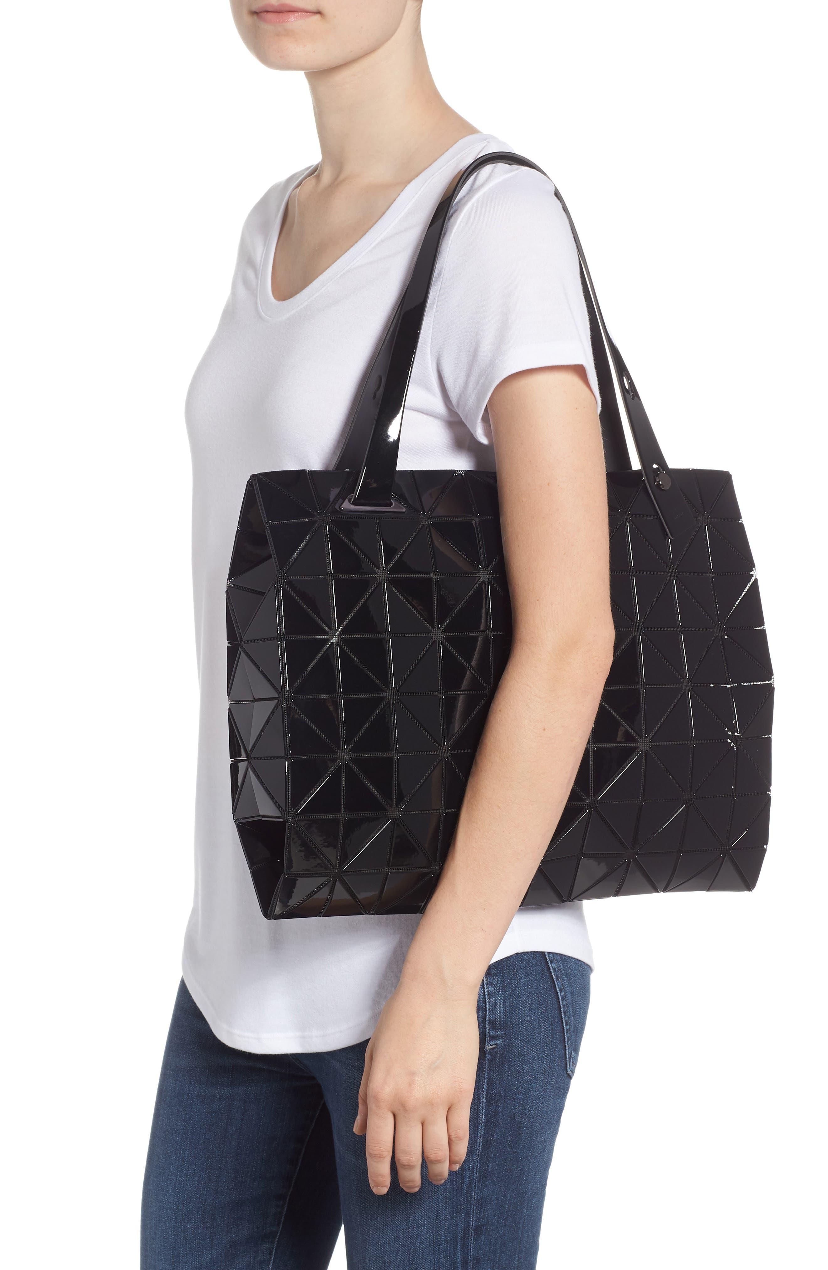 Carton Prism Tote Bag,                             Alternate thumbnail 2, color,                             BLACK