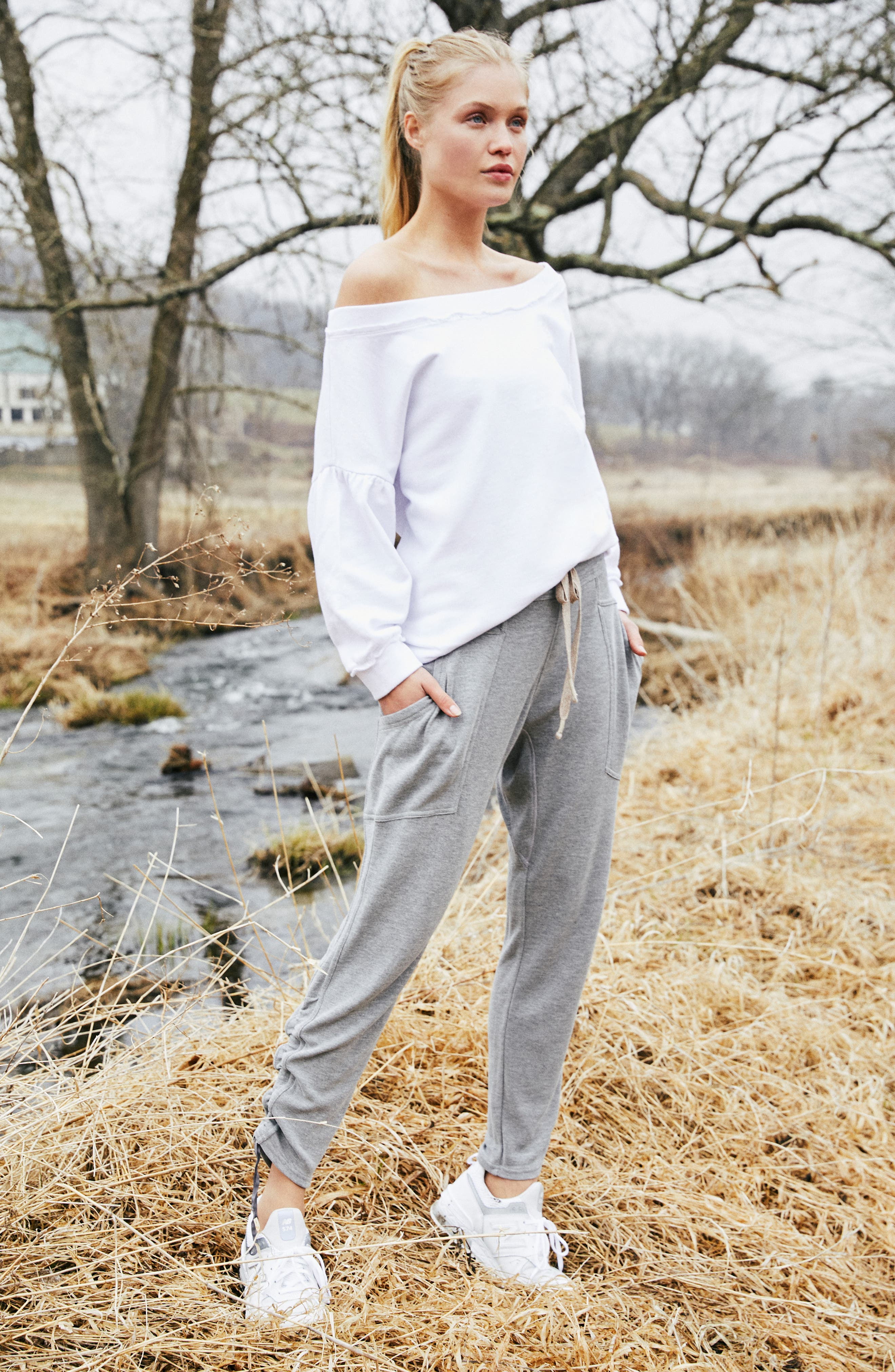Free People FP Movement Ready Go Jogger Pants,                             Alternate thumbnail 7, color,                             GREY COMBO