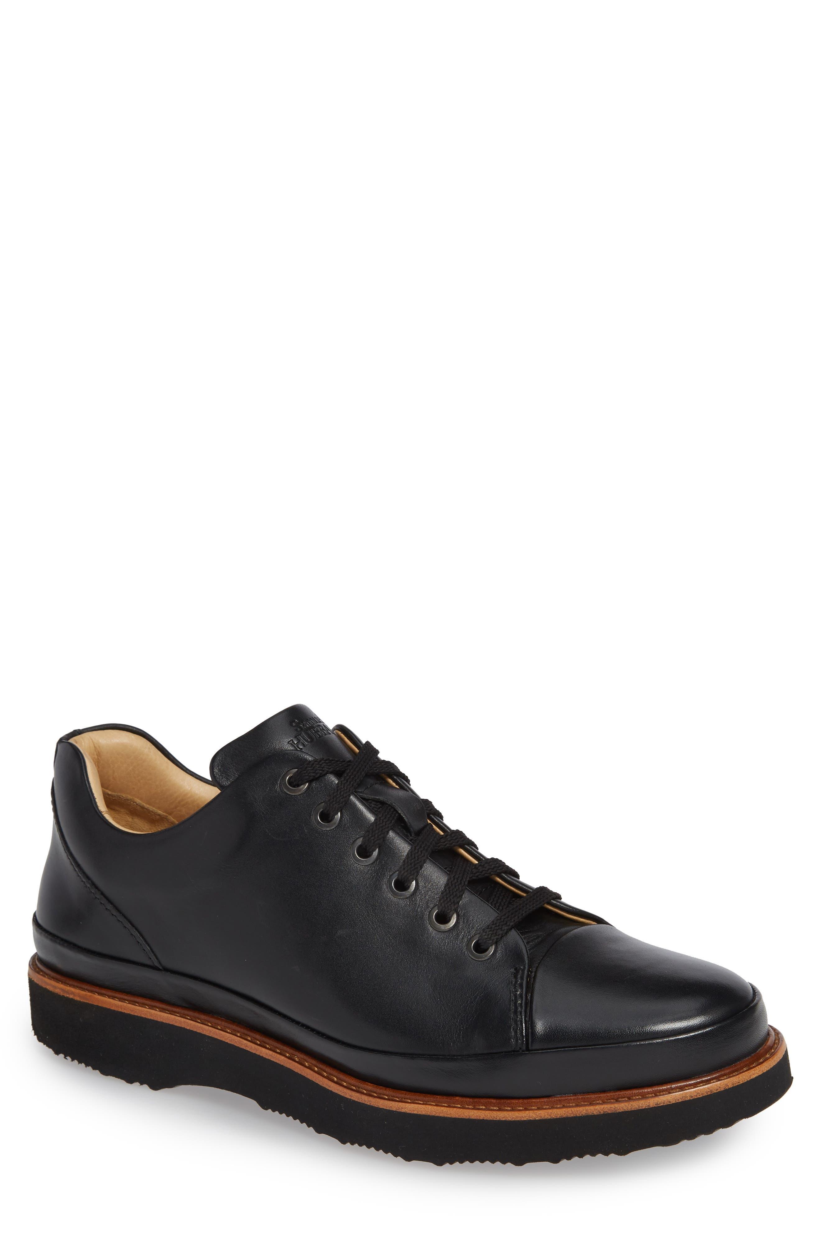 Dress Fast Plain Toe Oxford,                             Main thumbnail 1, color,                             BLACK/ BLACK