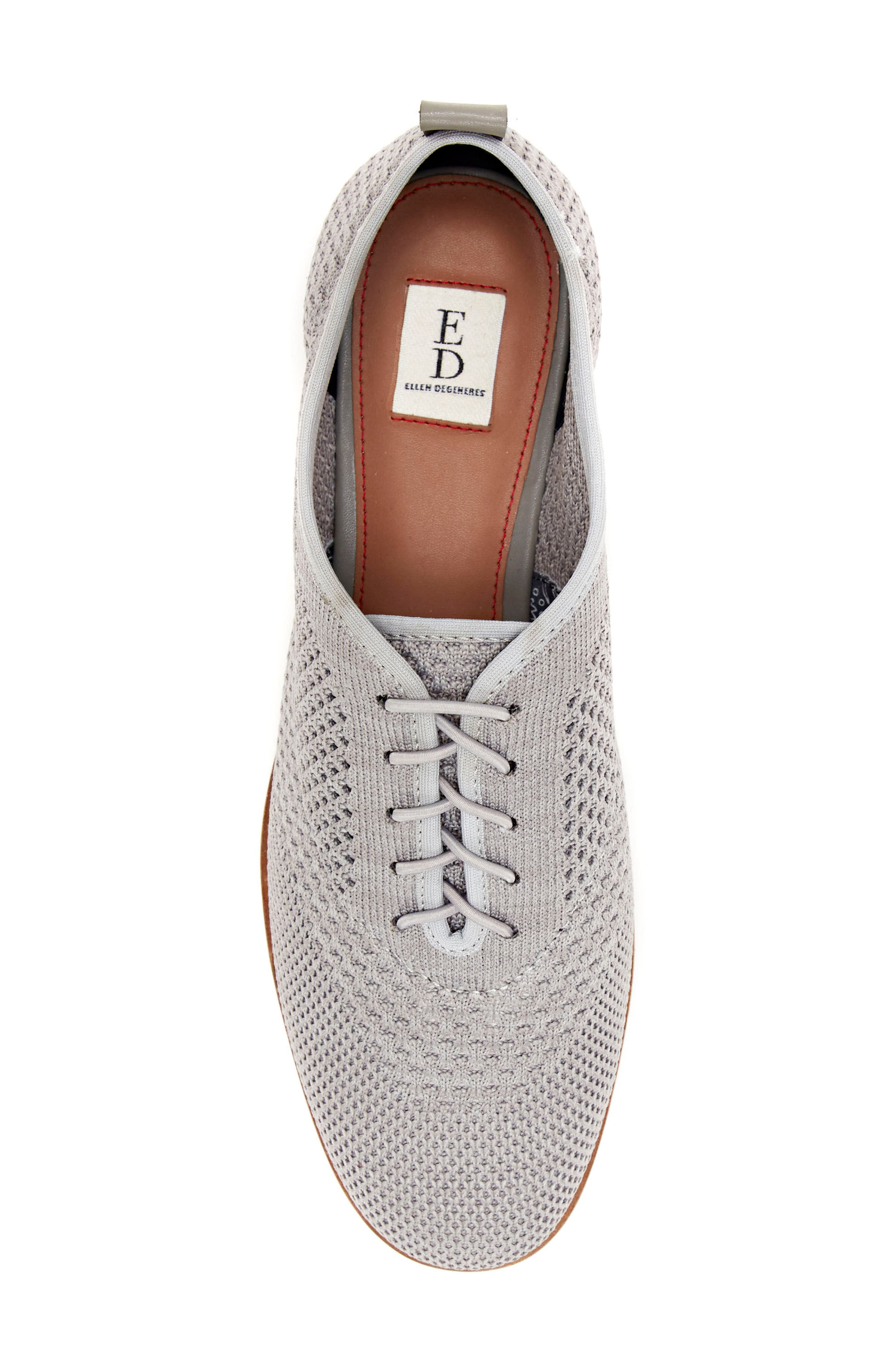 Lucerne Knit Oxford,                             Alternate thumbnail 4, color,                             HEATHER GREY TEXTILE FABRIC