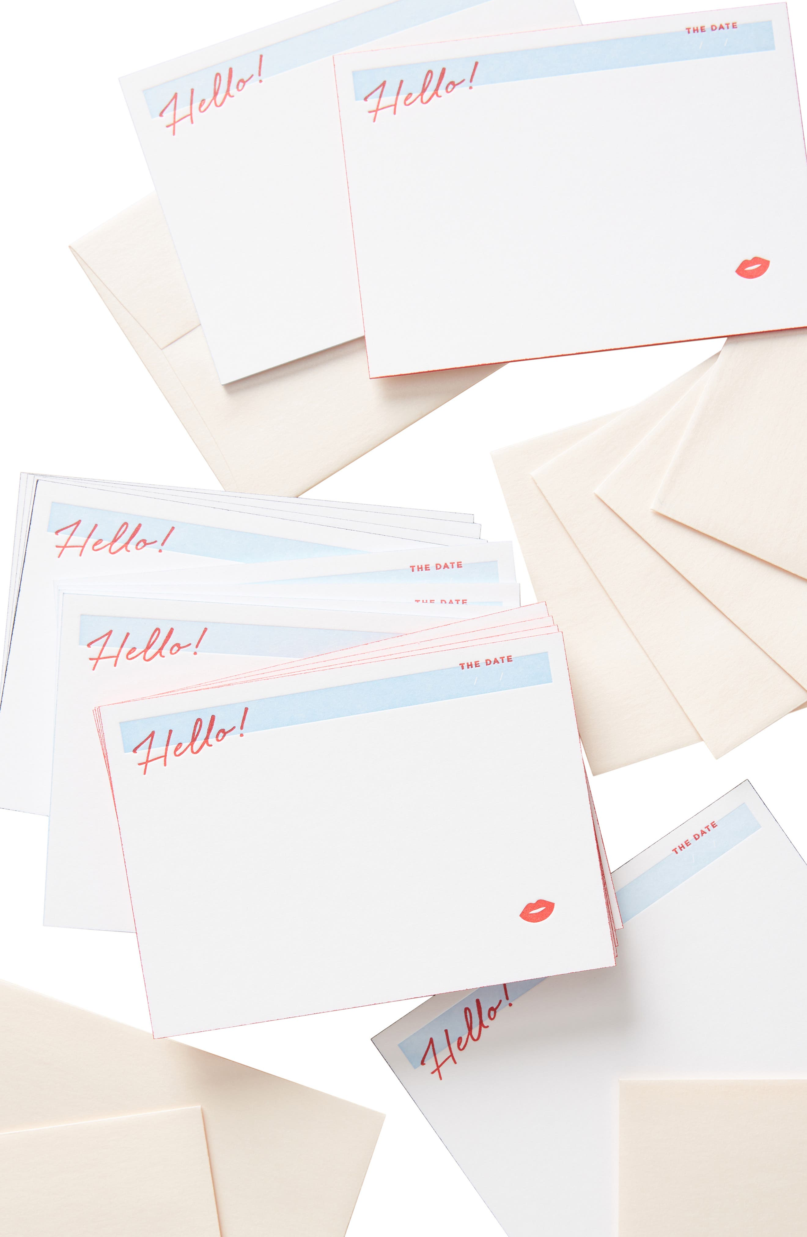 ANTHROPOLOGIE,                             Bisou Set of 15 Greeting Cards,                             Alternate thumbnail 2, color,                             RED