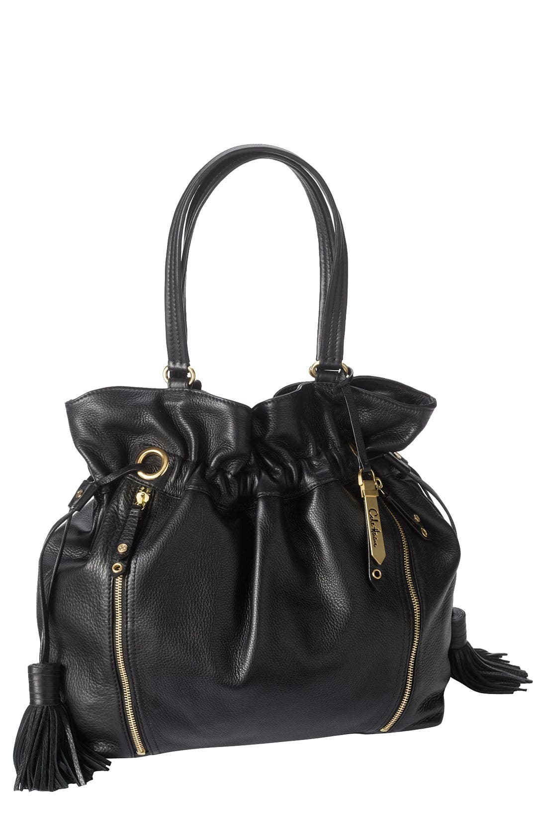 'Bailey' Pebbled Leather Drawstring Tote,                         Main,                         color,