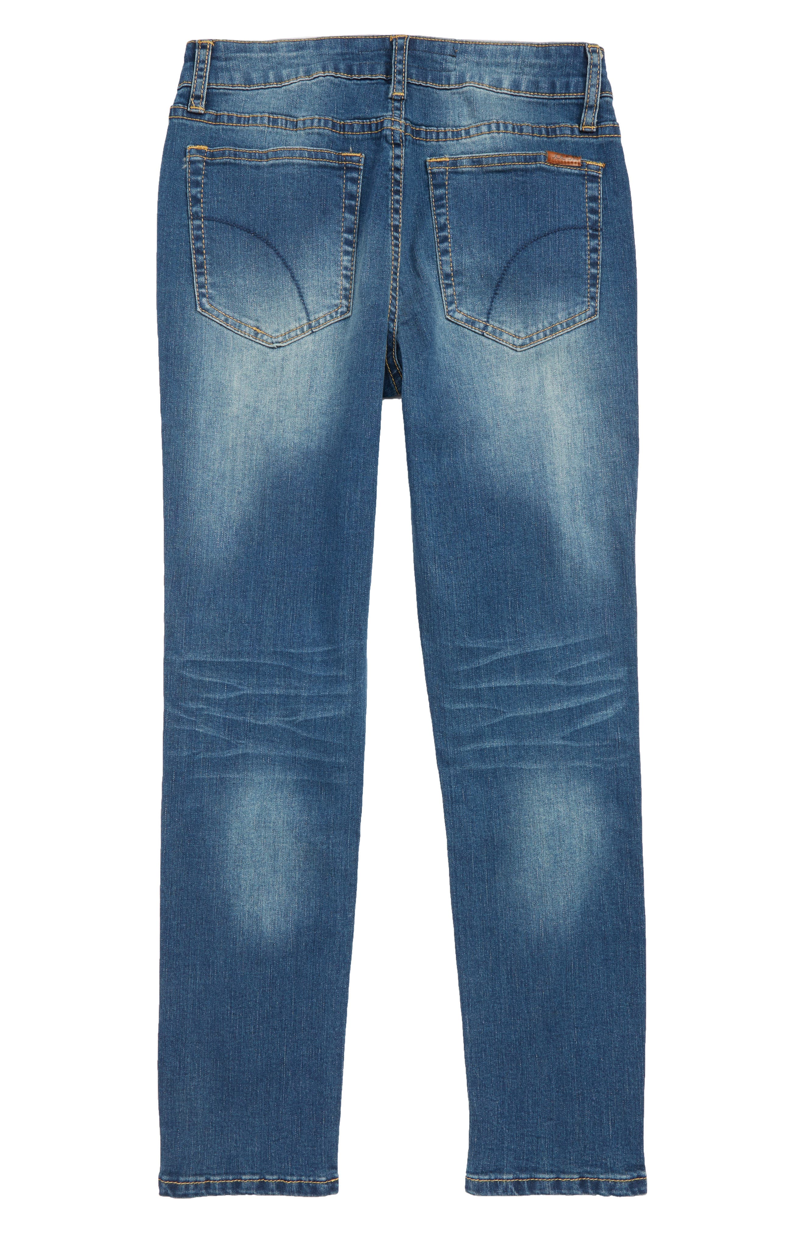 Brixton Straight Leg Stretch Jeans,                             Alternate thumbnail 2, color,                             FOSSIL