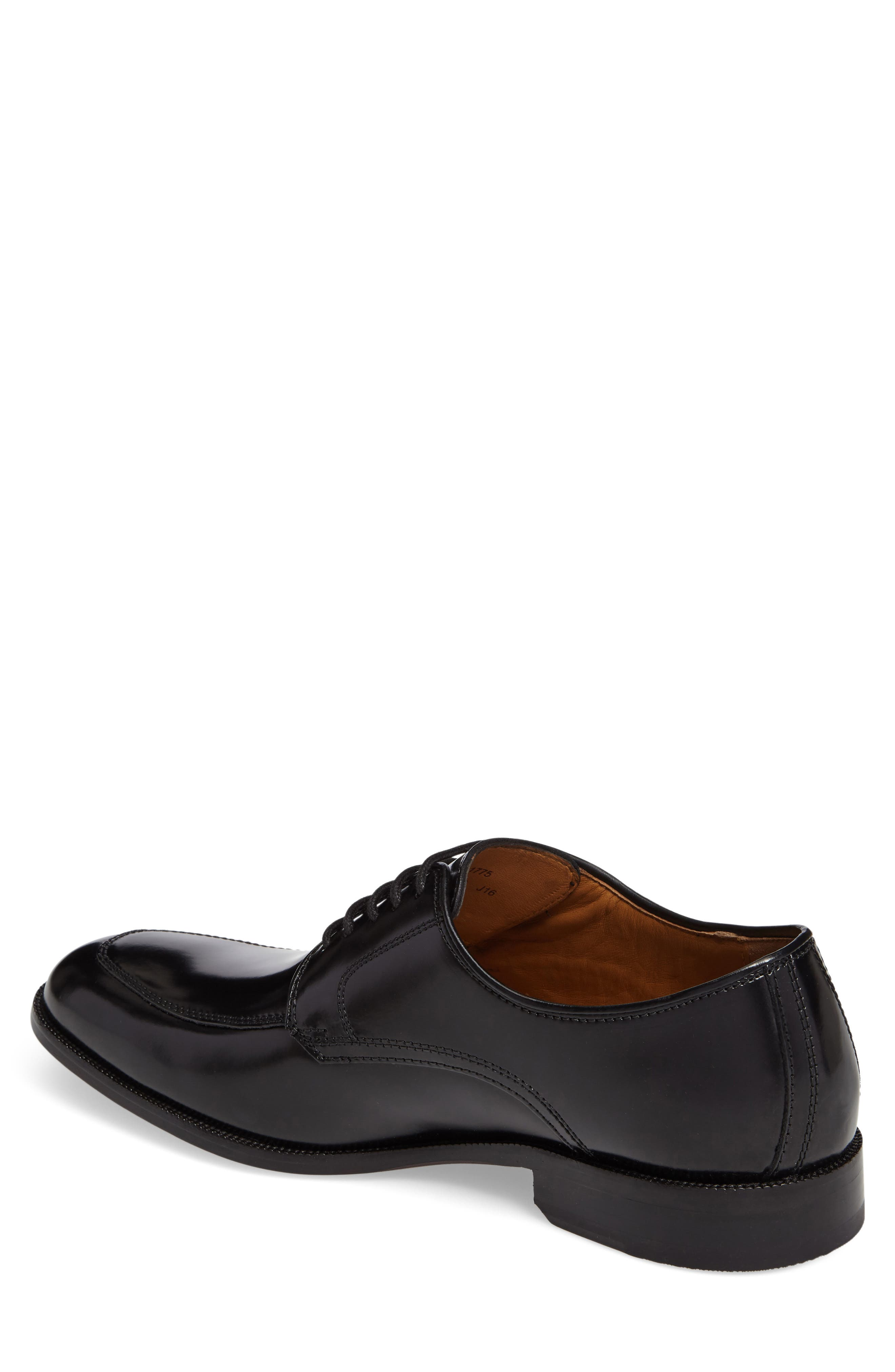 Bradford Apron-Toe Oxford,                             Alternate thumbnail 2, color,                             BLACK LEATHER