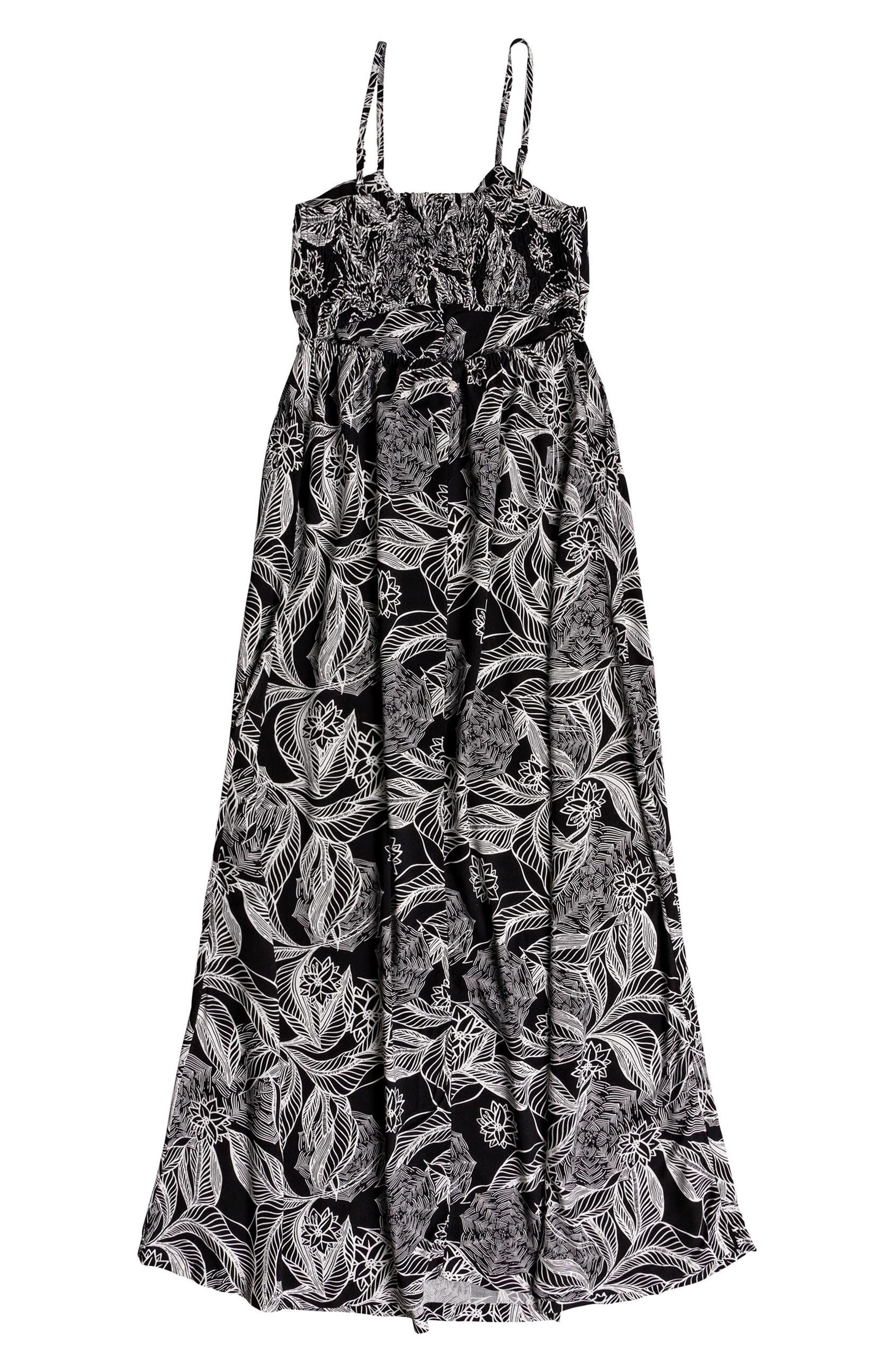 Brilliant Stars Print Maxi Dress,                             Alternate thumbnail 4, color,                             002