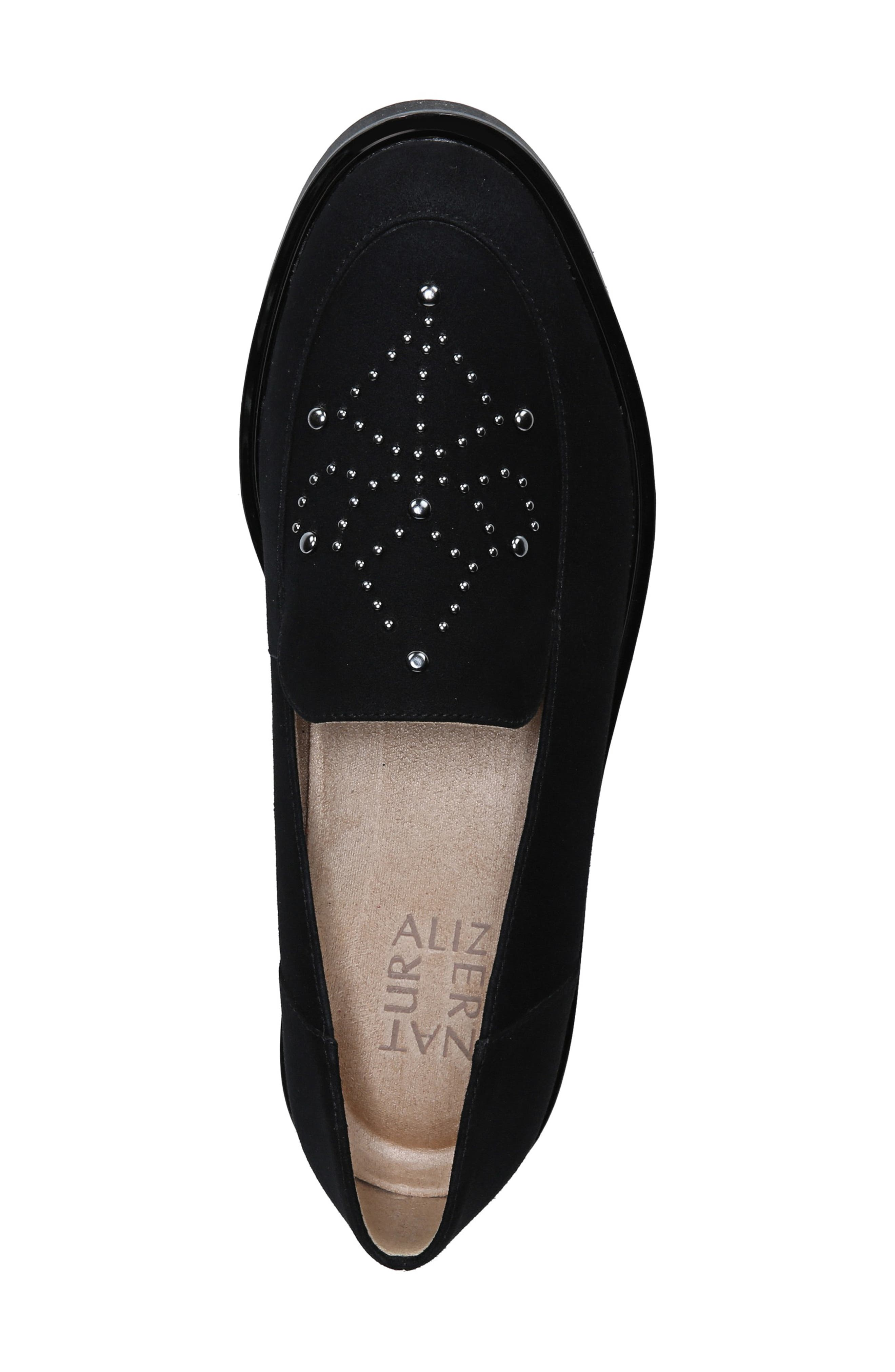Andie Loafer,                             Alternate thumbnail 4, color,                             BLACK SUEDE