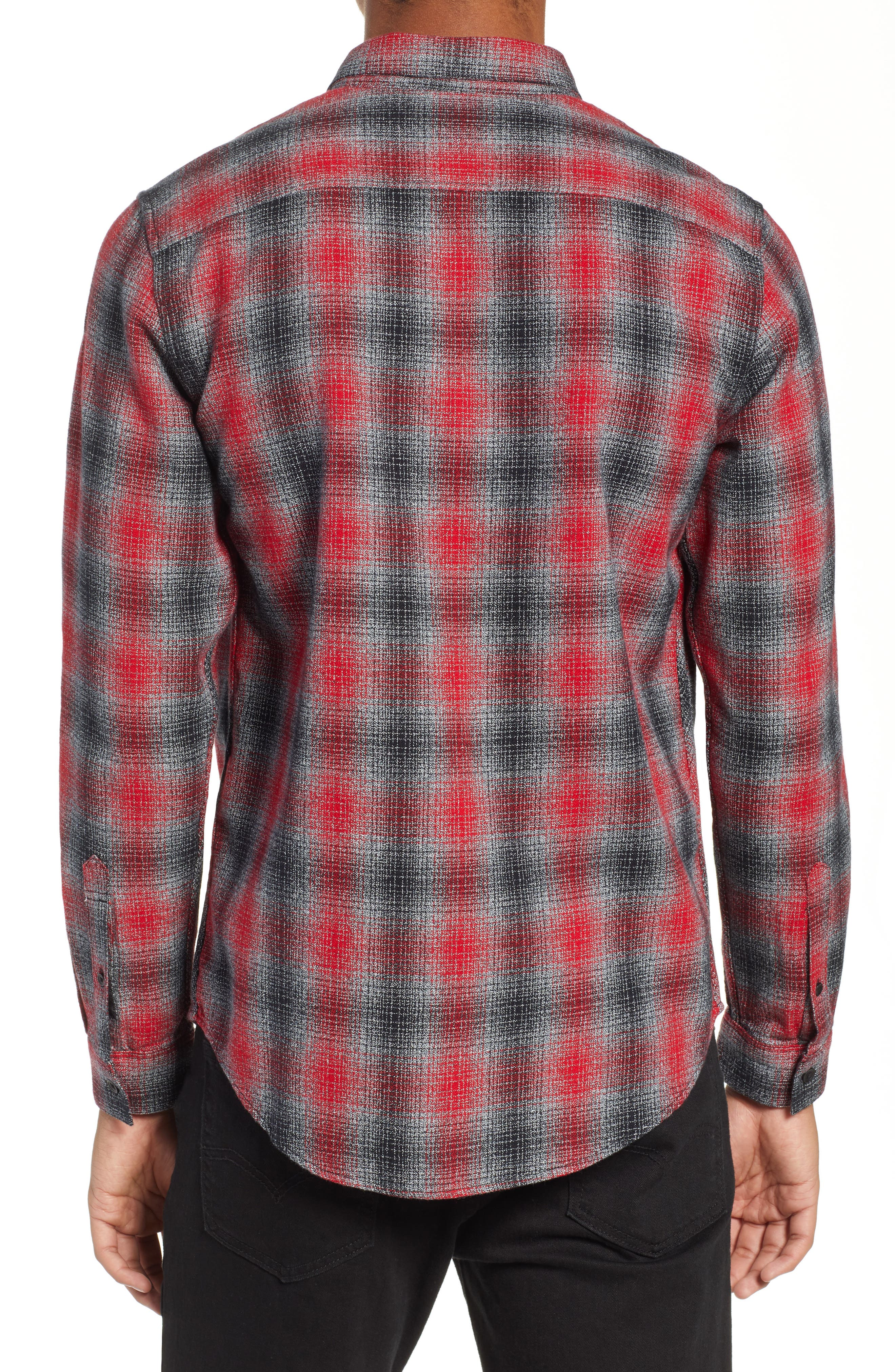 LEVI'S<SUP>®</SUP> MADE & CRAFTED<SUP>™</SUP>,                             Standard Plaid Sport Shirt,                             Alternate thumbnail 3, color,                             800