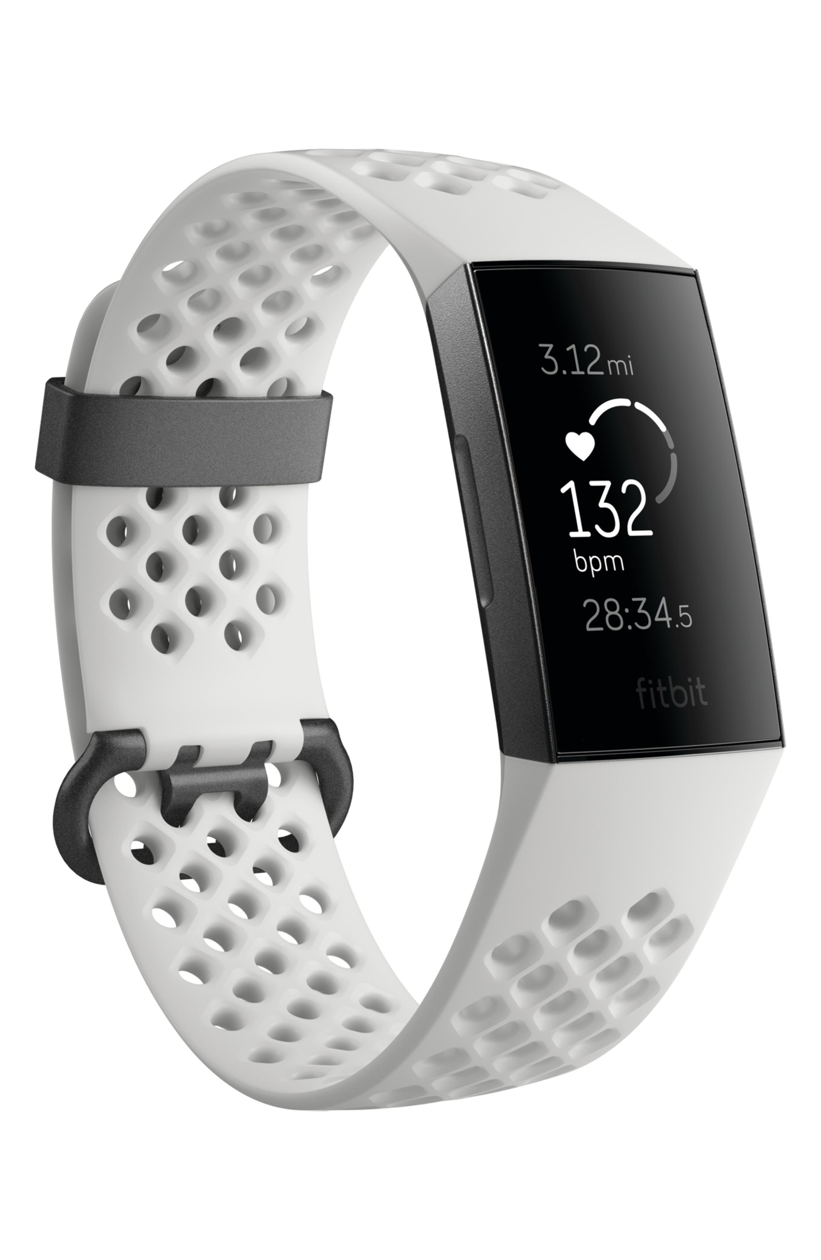 Charge 3 Special Edition Wireless Activity & Heart Rate Tracker,                             Alternate thumbnail 4, color,                             WHITE
