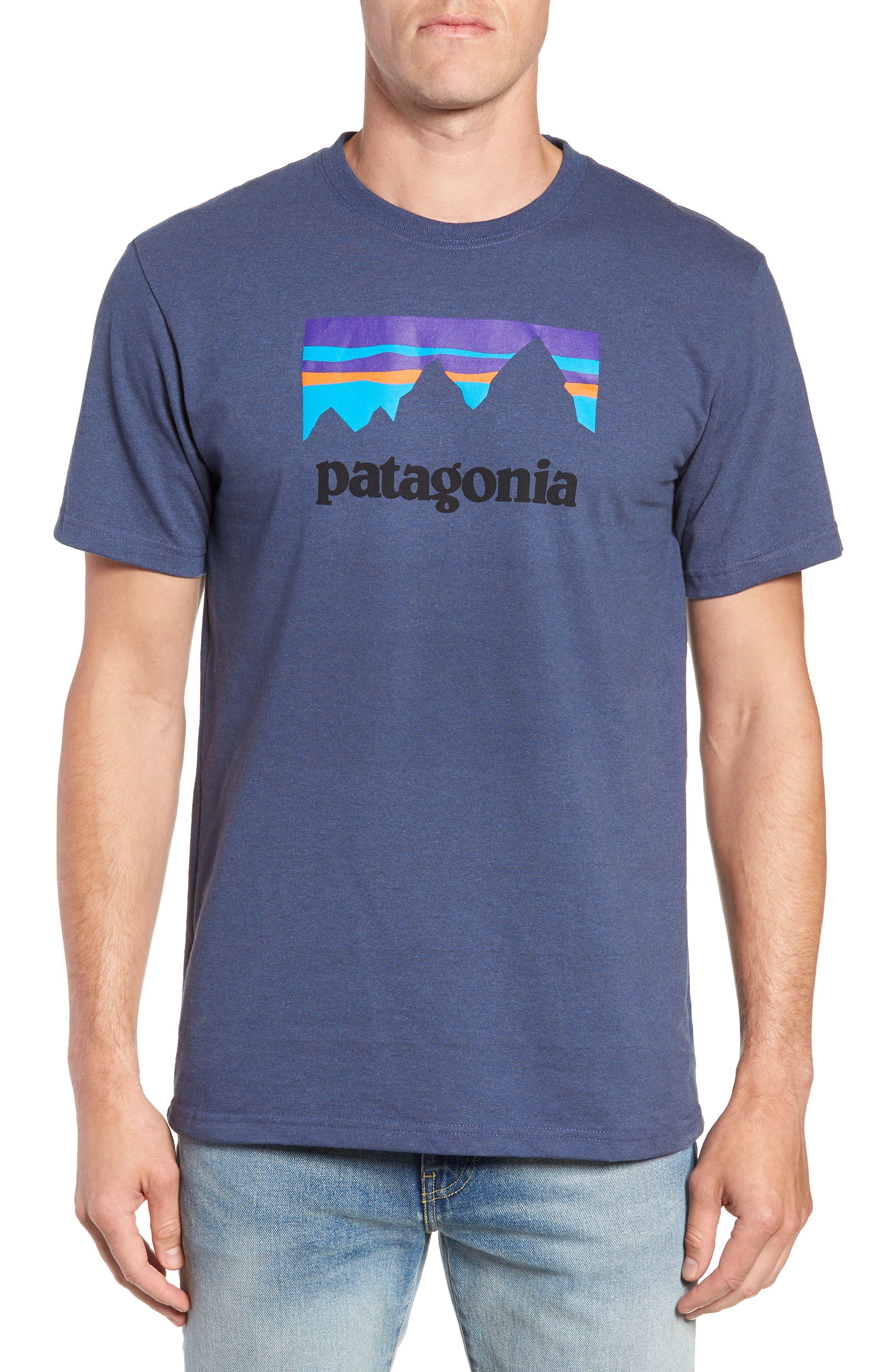 Shop Sticker Responsibili-Tee T-Shirt,                             Main thumbnail 1, color,                             DOLOMITE BLUE