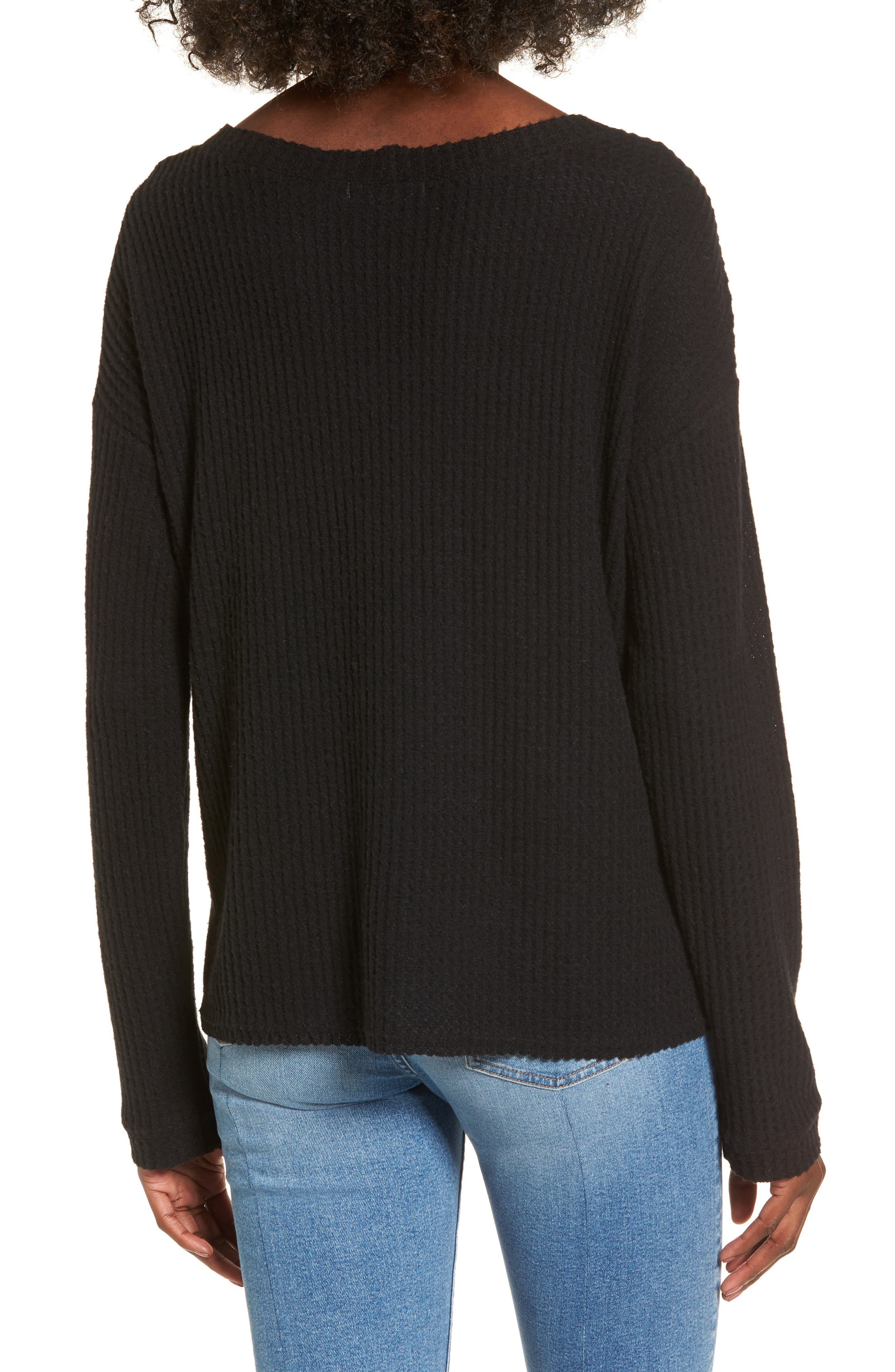 Waffle Knit Top,                             Alternate thumbnail 5, color,