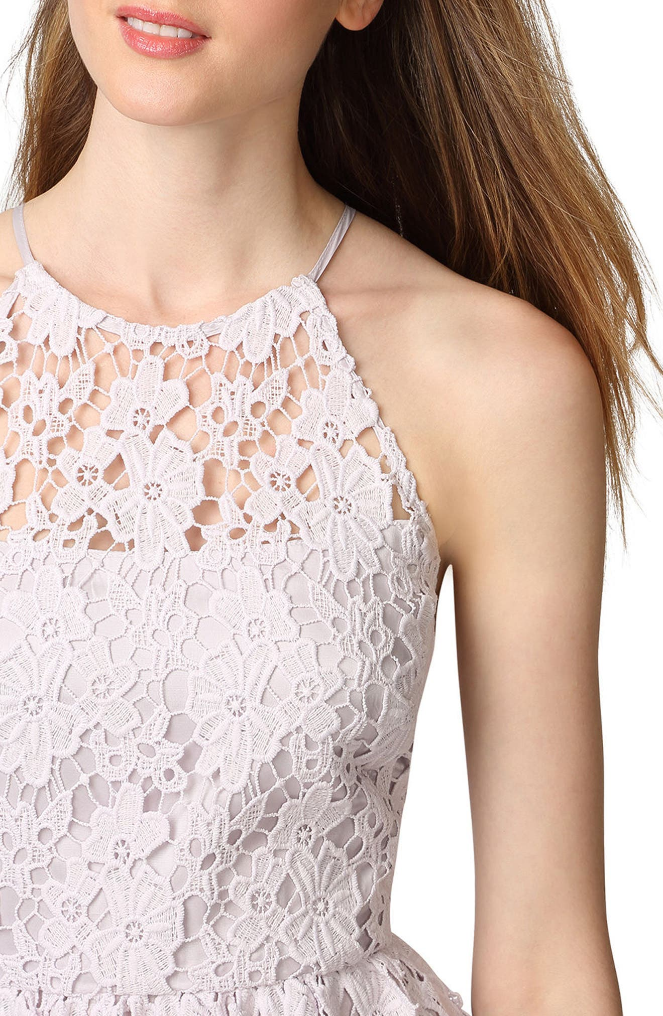 Chemical Lace Fit & Flare Midi Dress,                             Alternate thumbnail 3, color,                             450