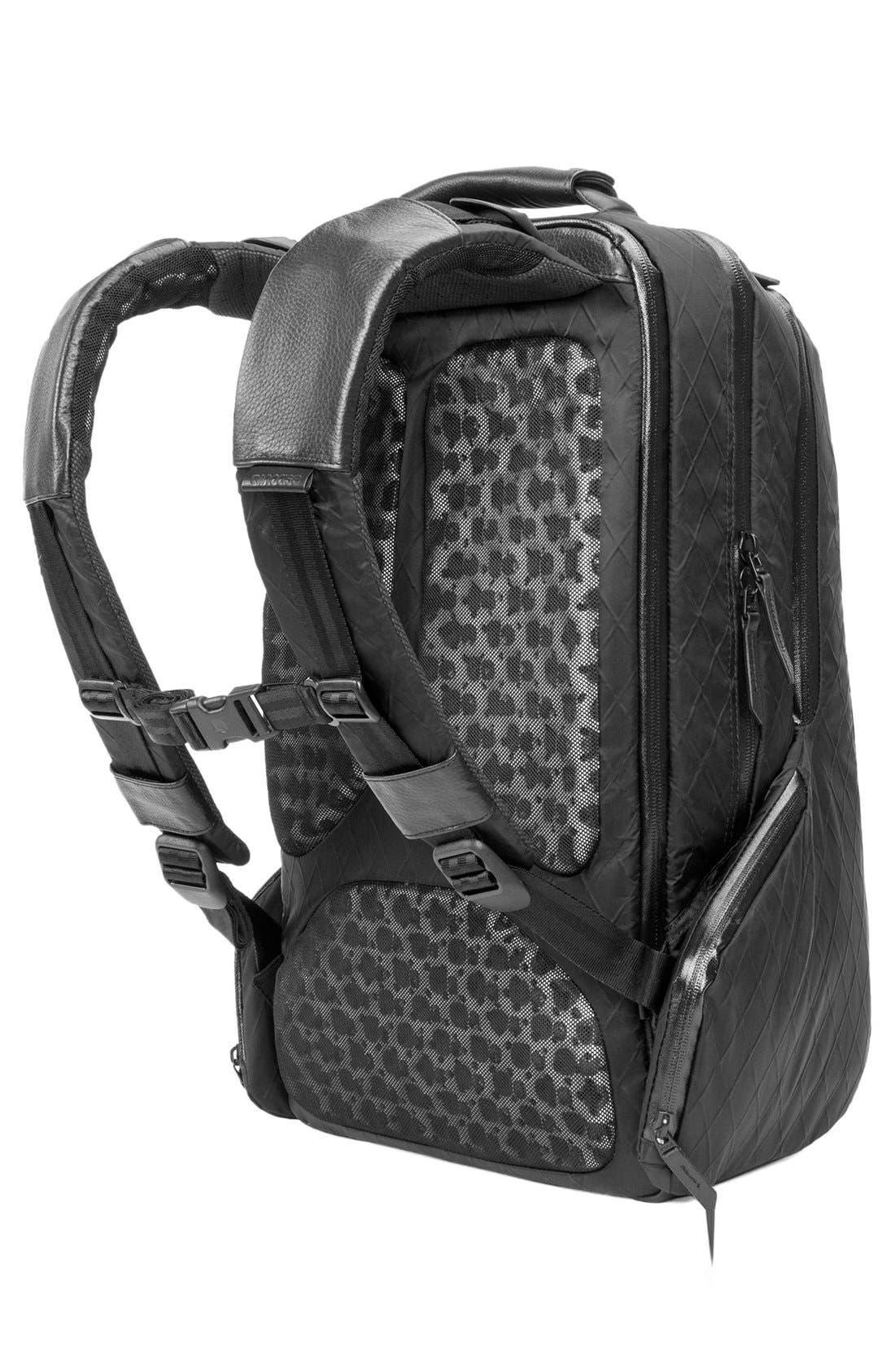 'Icon' Diamond Wire Backpack,                             Alternate thumbnail 4, color,                             BLACK