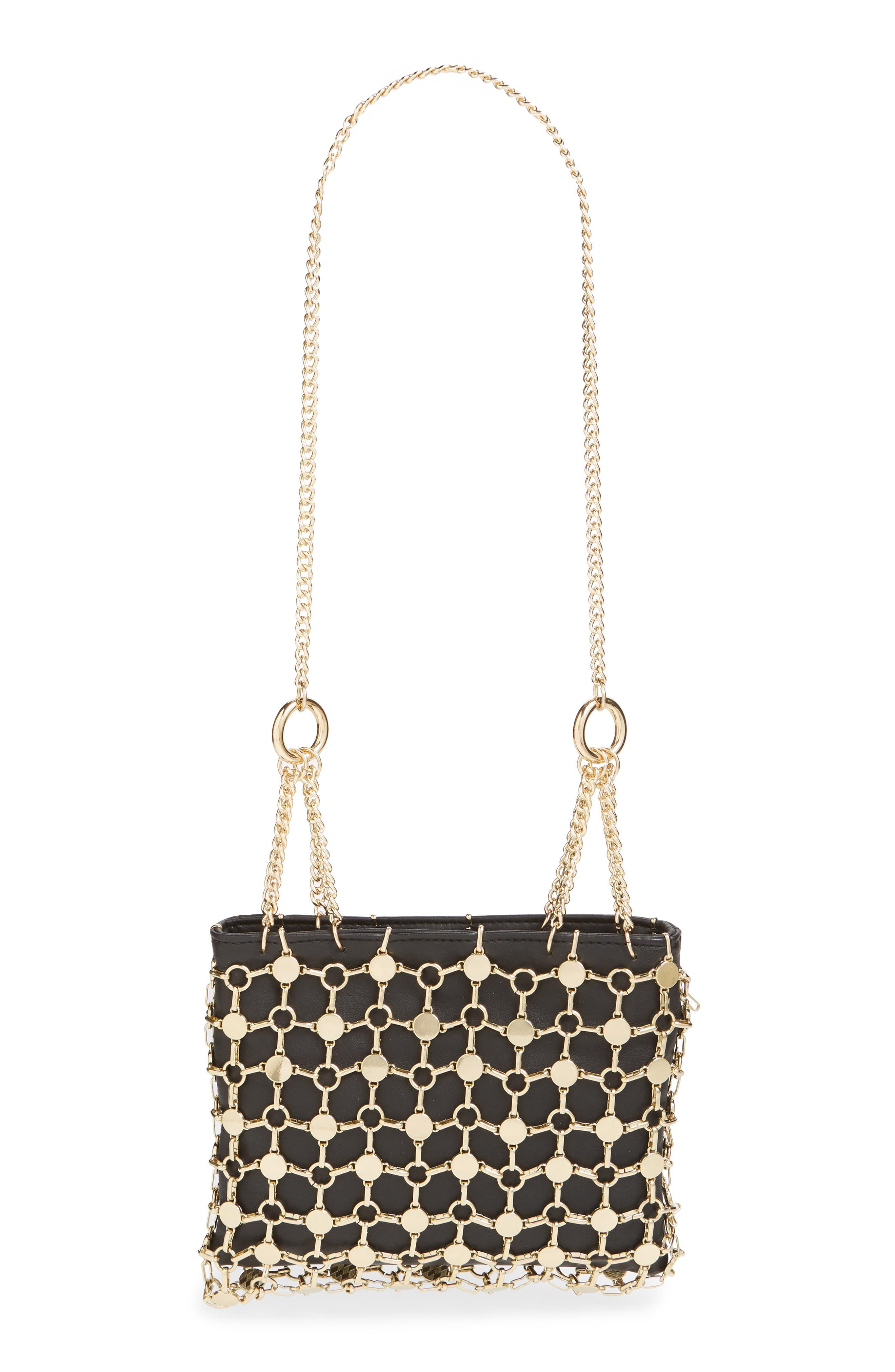 Multi Chain Shoulder Bag,                             Alternate thumbnail 3, color,                             GOLD MULTI