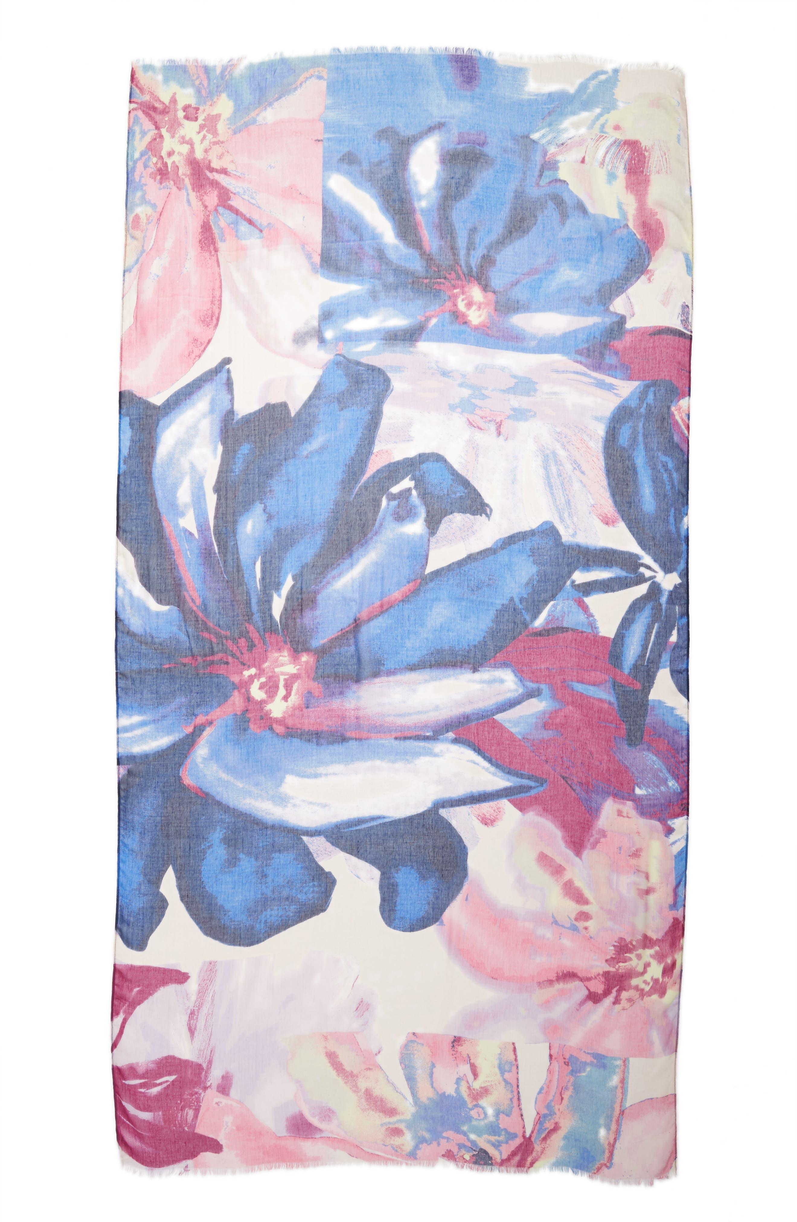 Print Modal & Silk Scarf,                             Alternate thumbnail 42, color,