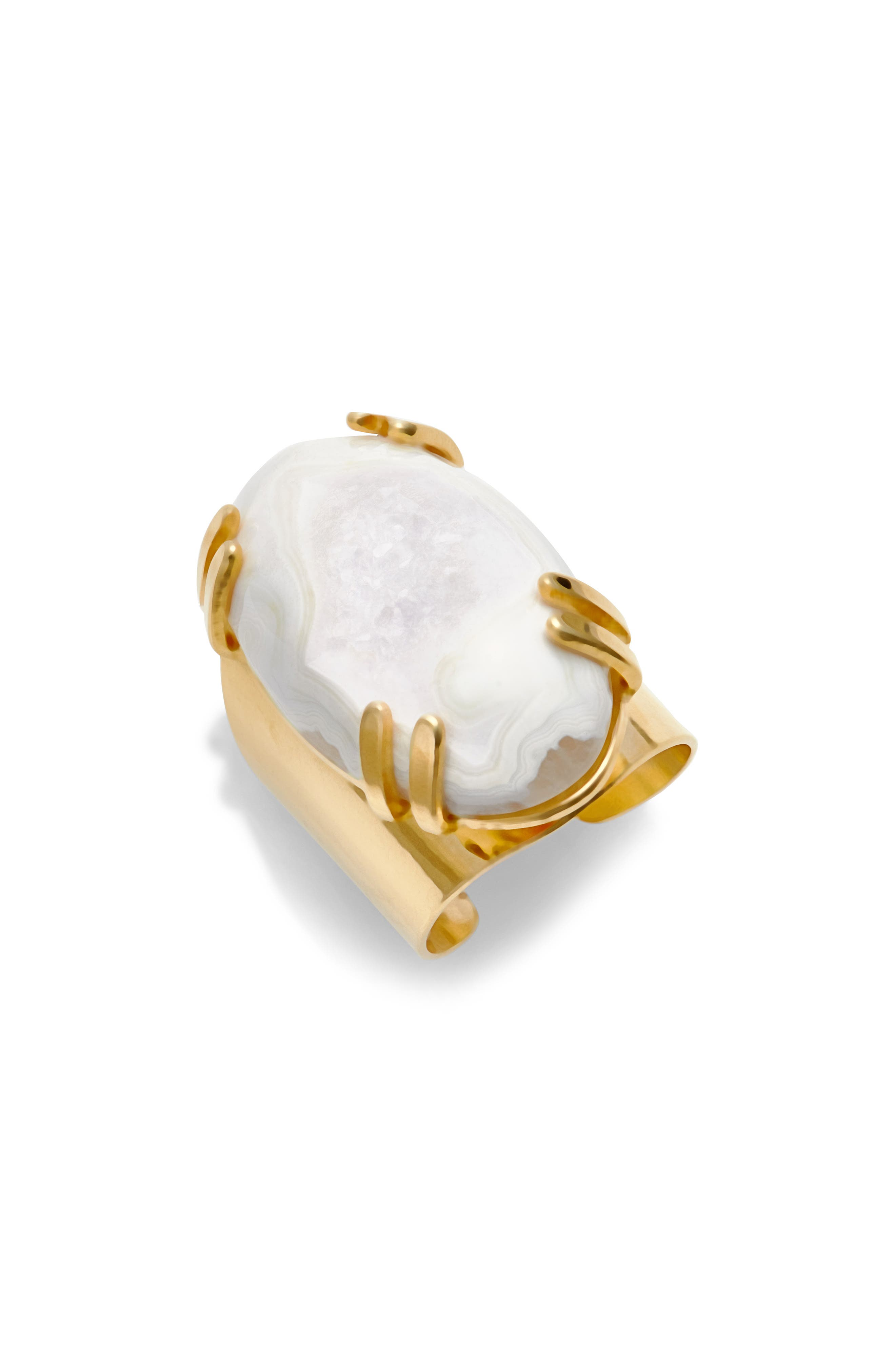 Drusy Agate Adjustable Ring,                             Main thumbnail 1, color,