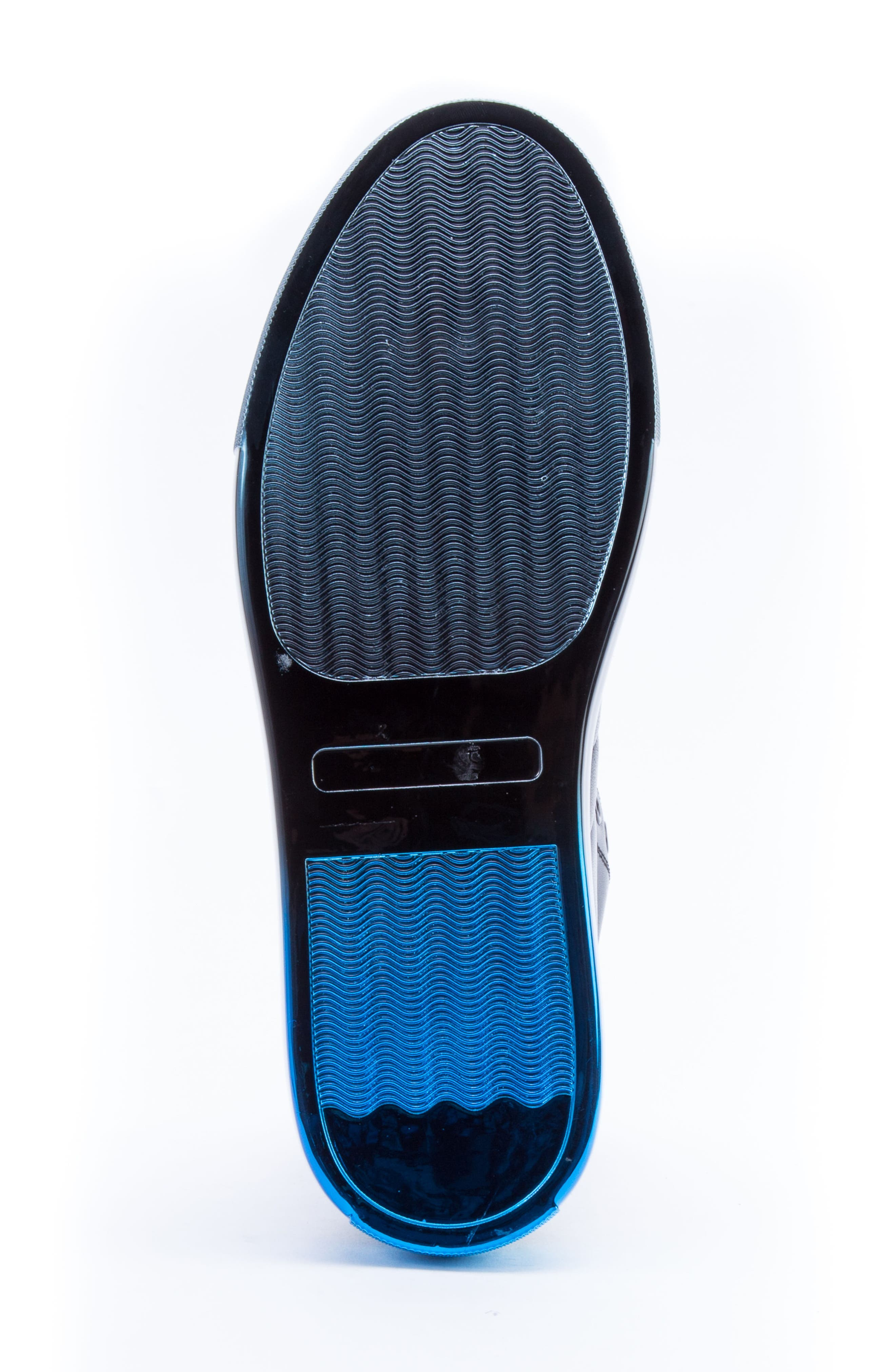 Badgley Mischka Hunter High Top Sneaker,                             Alternate thumbnail 6, color,                             NAVY LEATHER