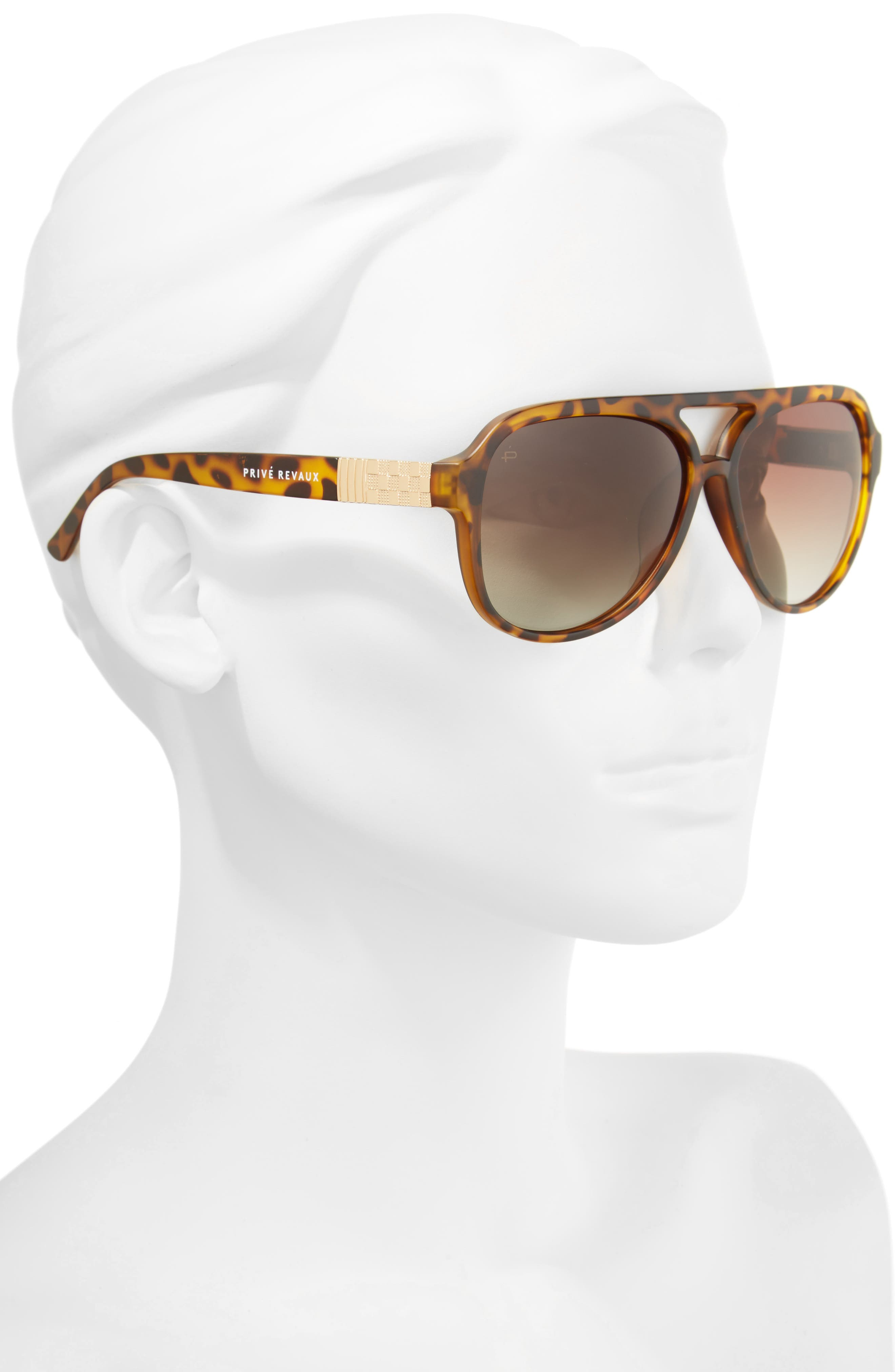 Privé Revaux The Nash 58mm Aviator Sunglasses,                             Alternate thumbnail 2, color,                             BROWN