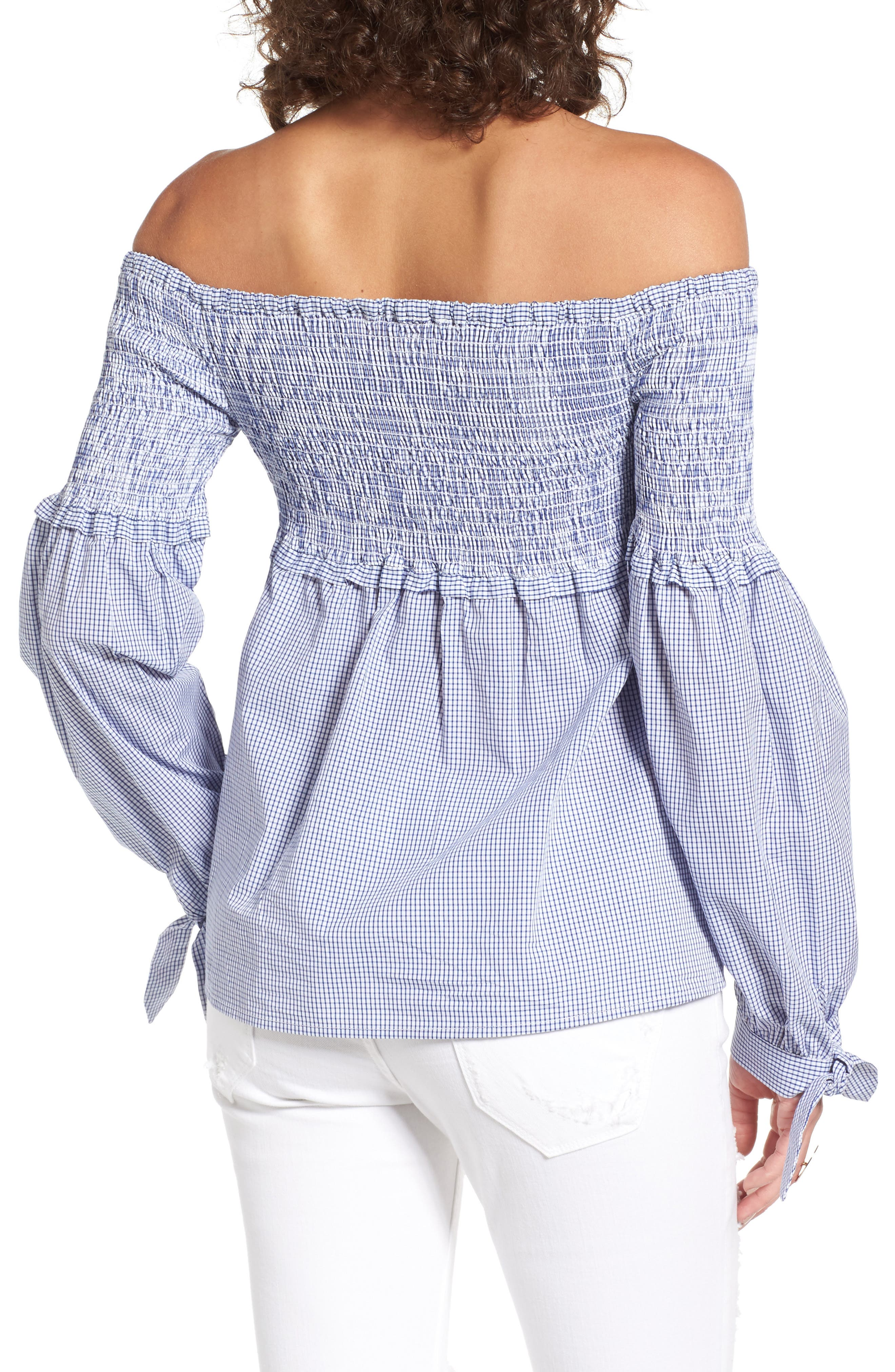 Libby Smocked Off the Shoulder Top,                             Alternate thumbnail 2, color,                             403