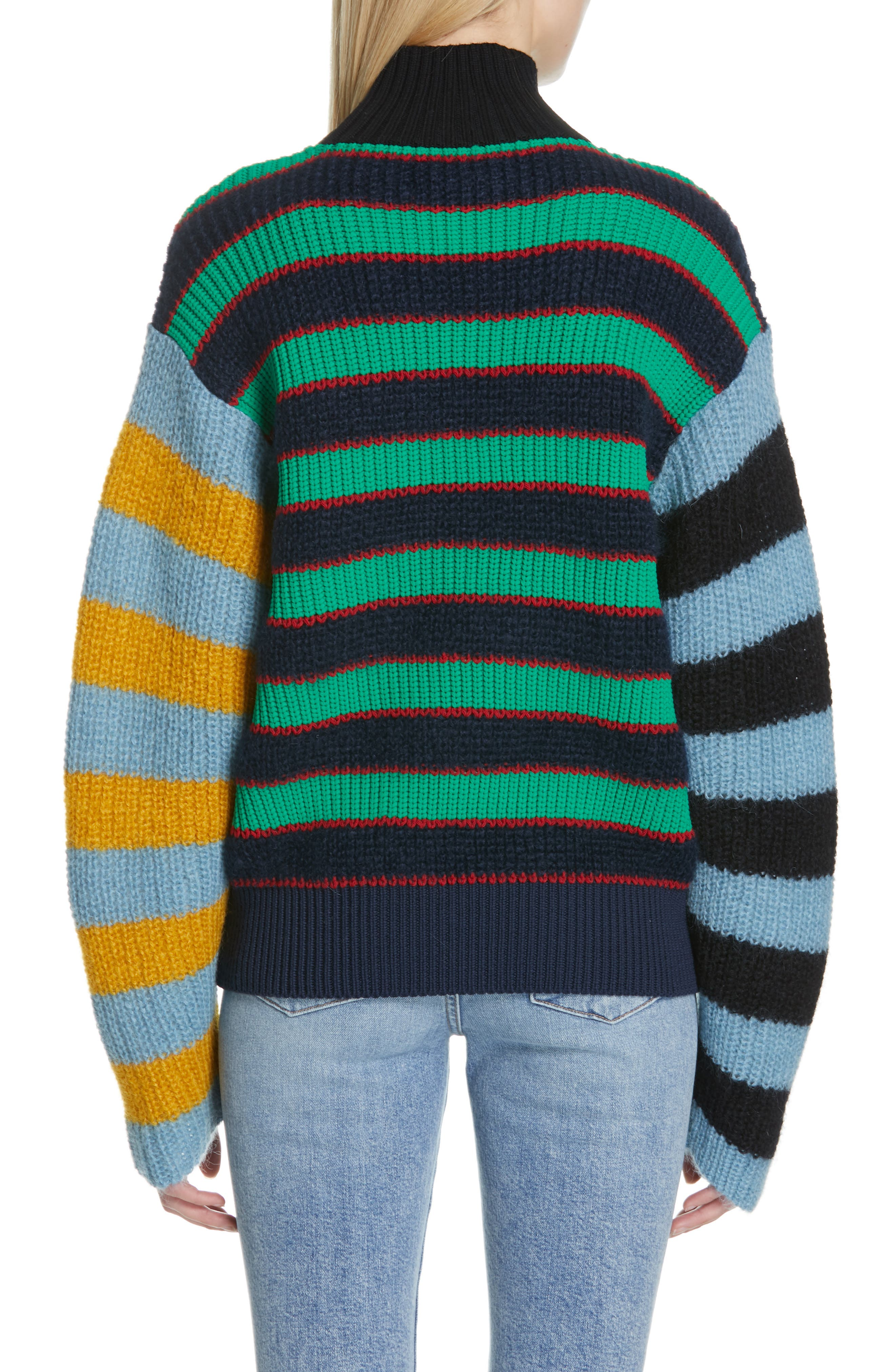 Colorblock Stripe Mohair & Wool Blend Sweater,                             Alternate thumbnail 2, color,                             MULTICOLOR