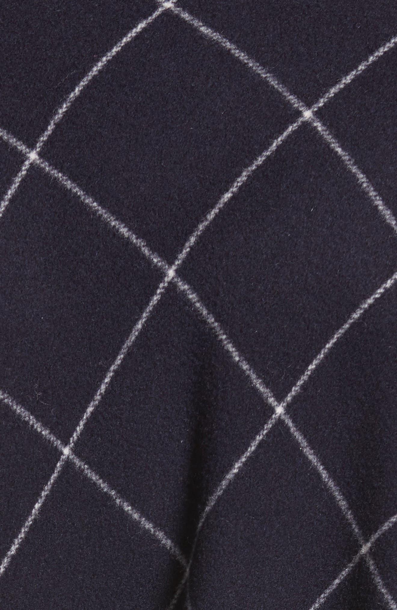 Windowpane Wool & Cashmere Wrap Coat,                             Alternate thumbnail 6, color,                             400