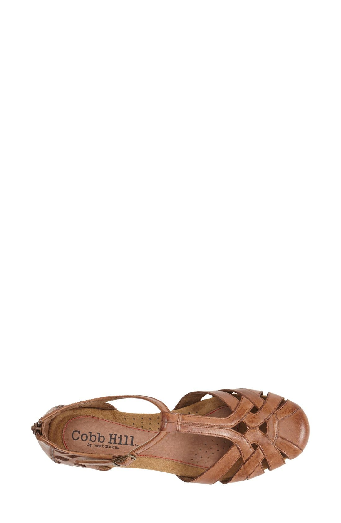 'Ireland' Leather Sandal,                             Alternate thumbnail 4, color,                             TAN
