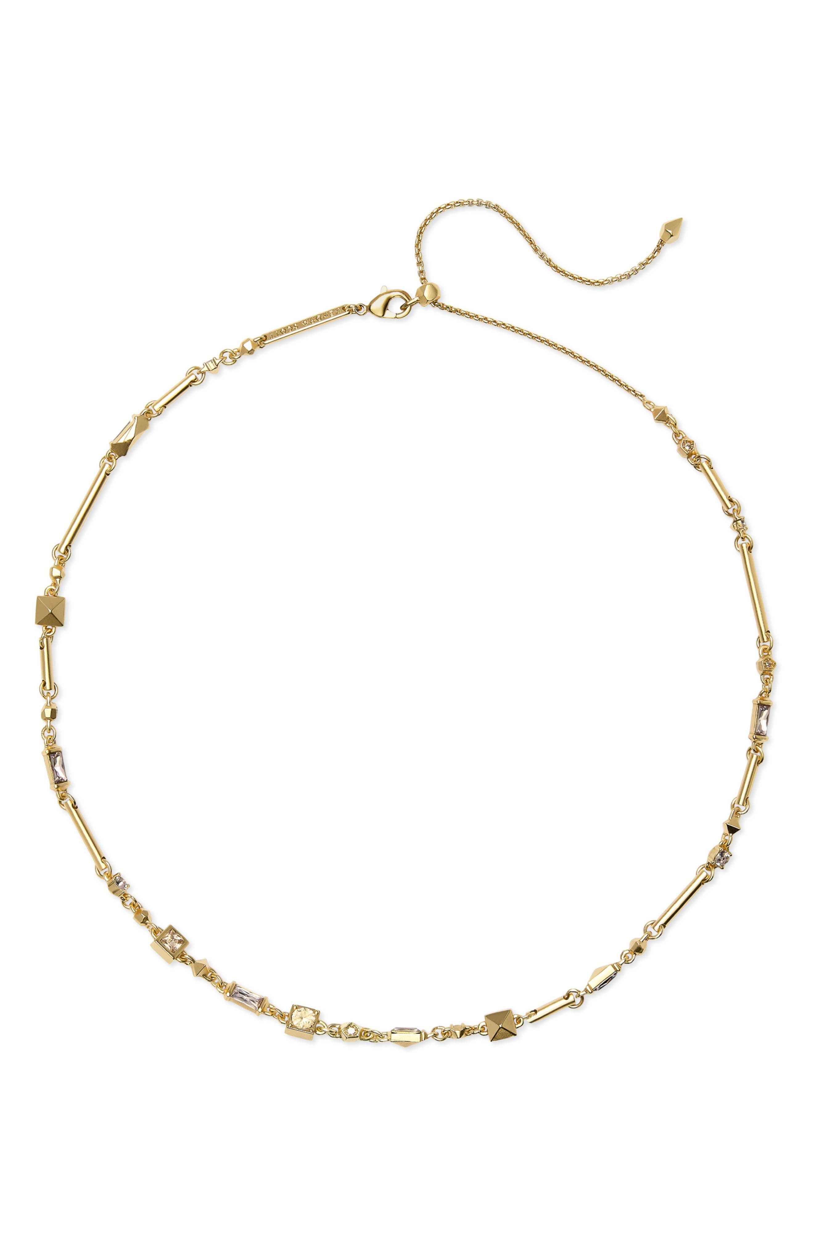 Rhett Collar Necklace,                             Main thumbnail 1, color,                             SMOKY MIX/ GOLD