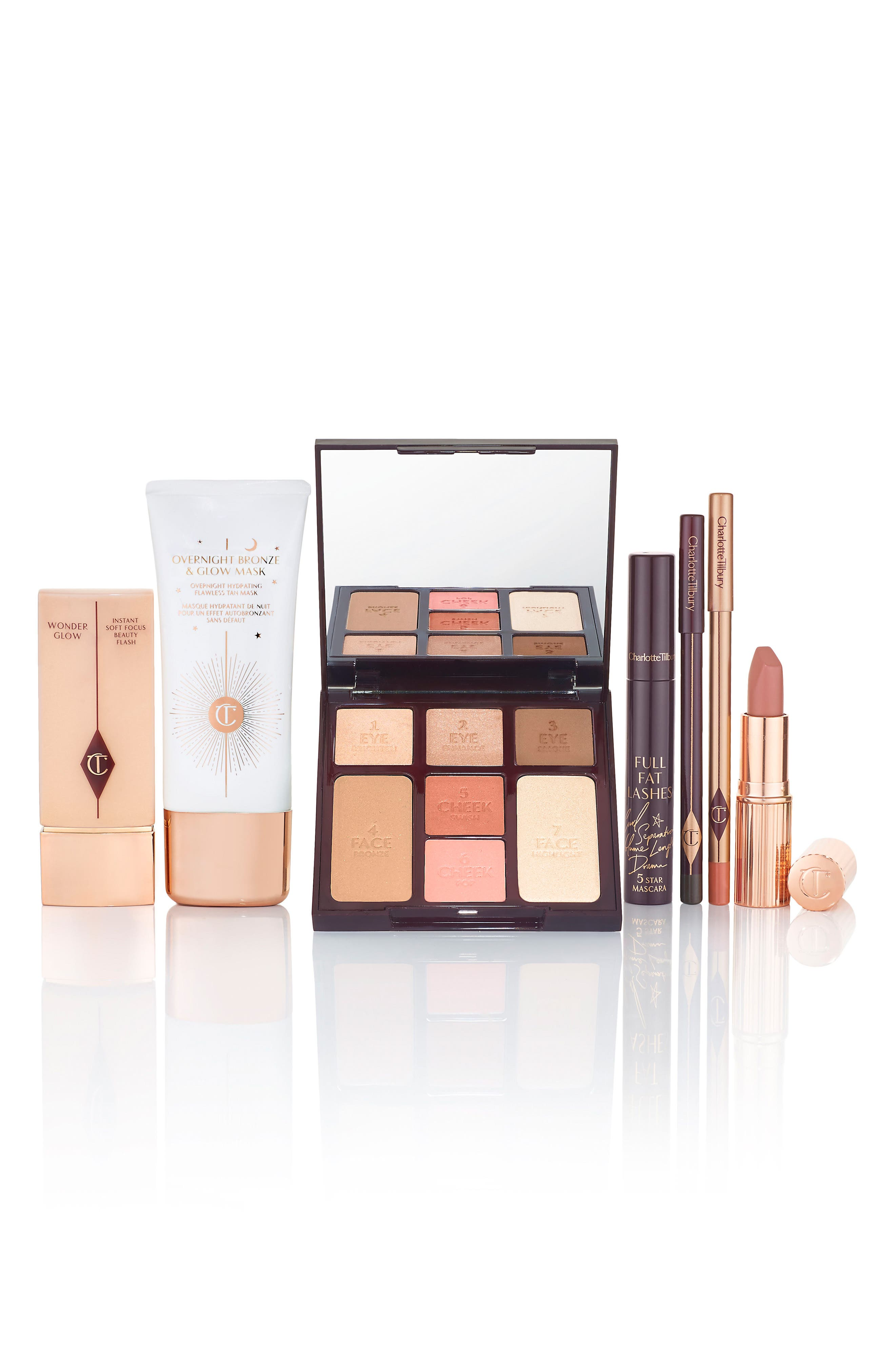 Instant Look in a Palette Beauty Glow,                             Alternate thumbnail 7, color,                             000