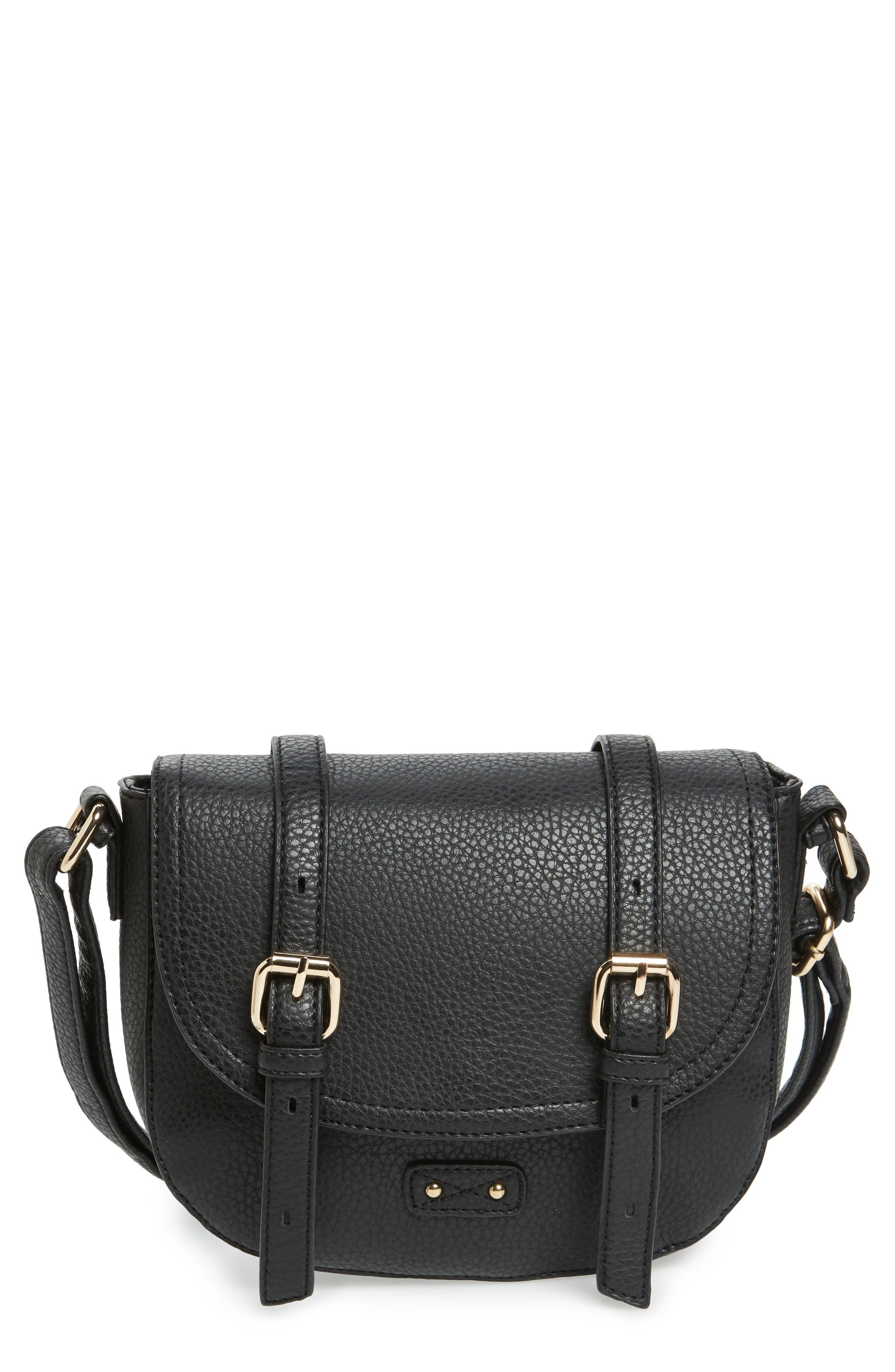 Buckle Saddle Crossbody Bag,                         Main,                         color, 005