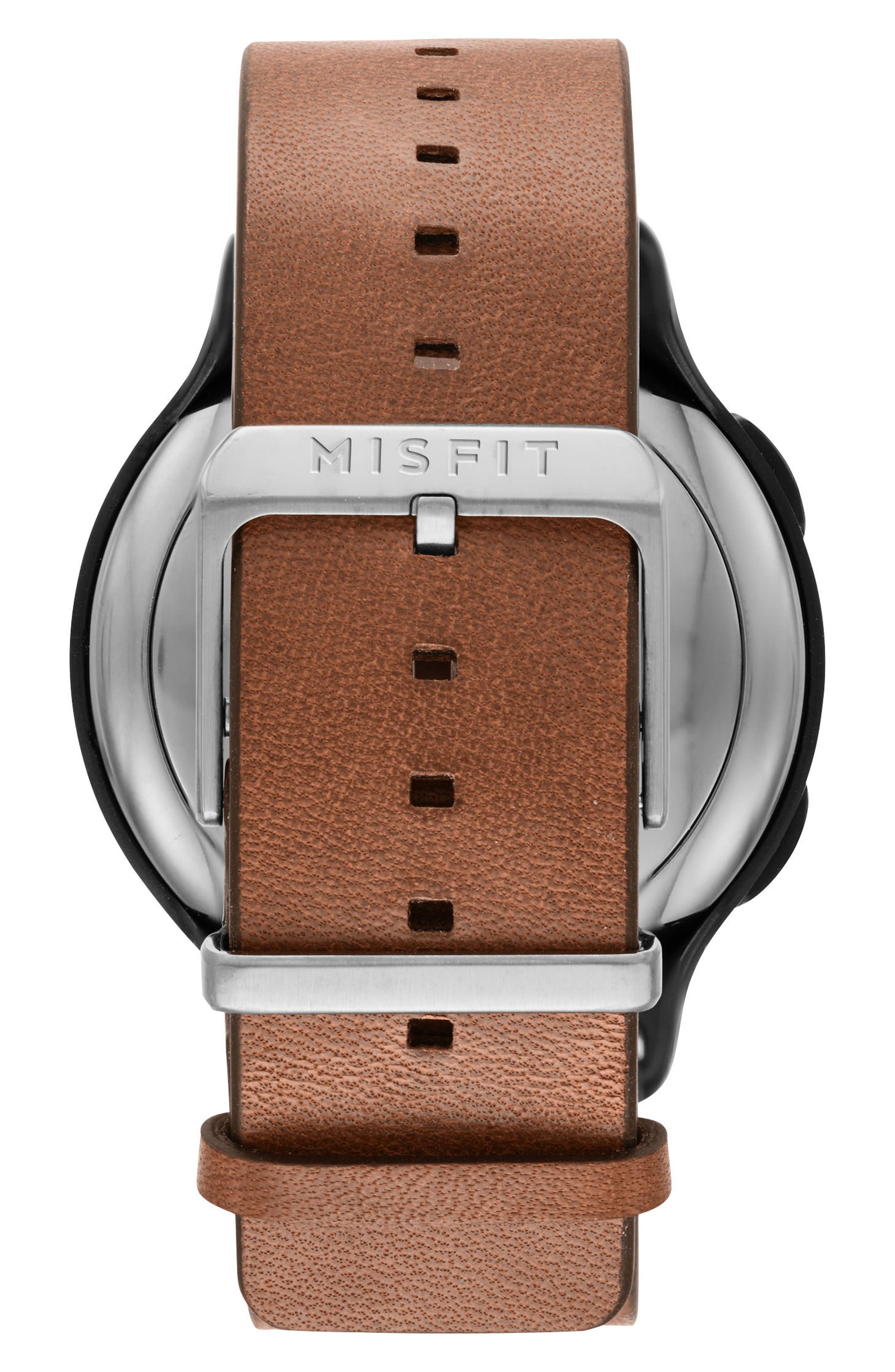 Phase Leather Strap Smart Watch, 40mm,                             Alternate thumbnail 8, color,