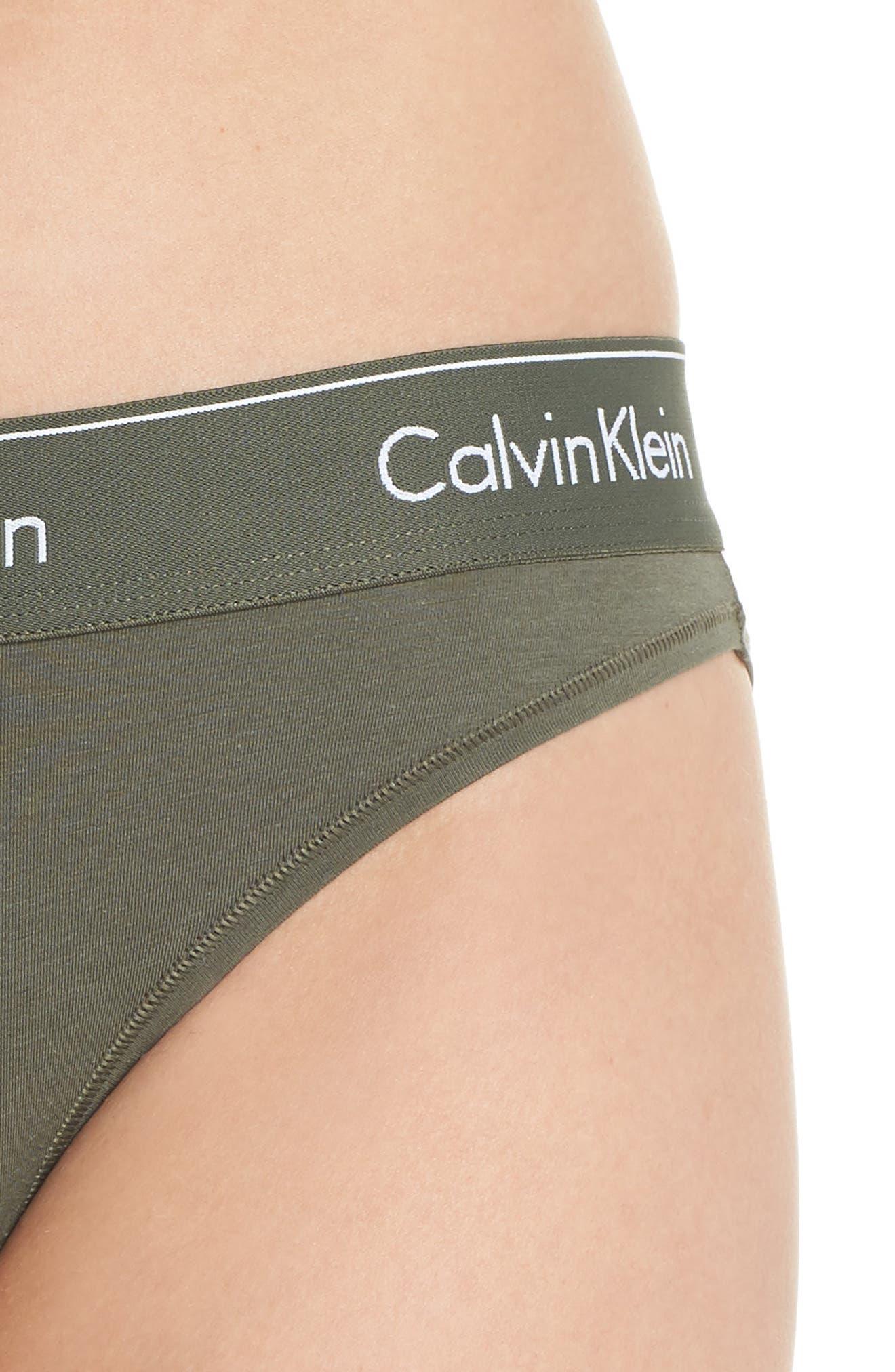 'Modern Cotton Collection' Cotton Blend Bikini,                             Alternate thumbnail 5, color,                             BEETLE