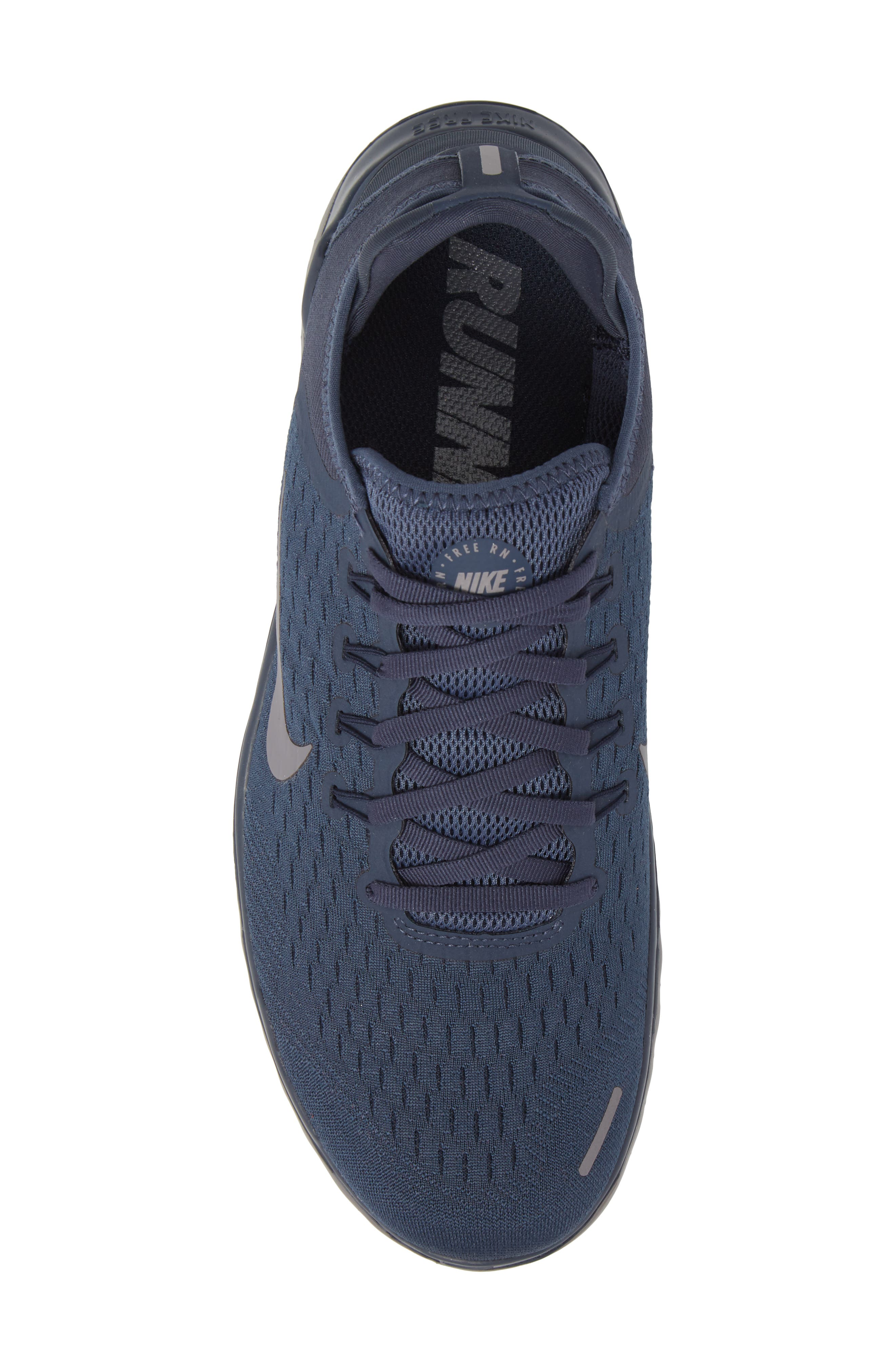 Free RN 2018 Running Shoe,                             Alternate thumbnail 5, color,                             THUNDER BLUE/ SMOKE