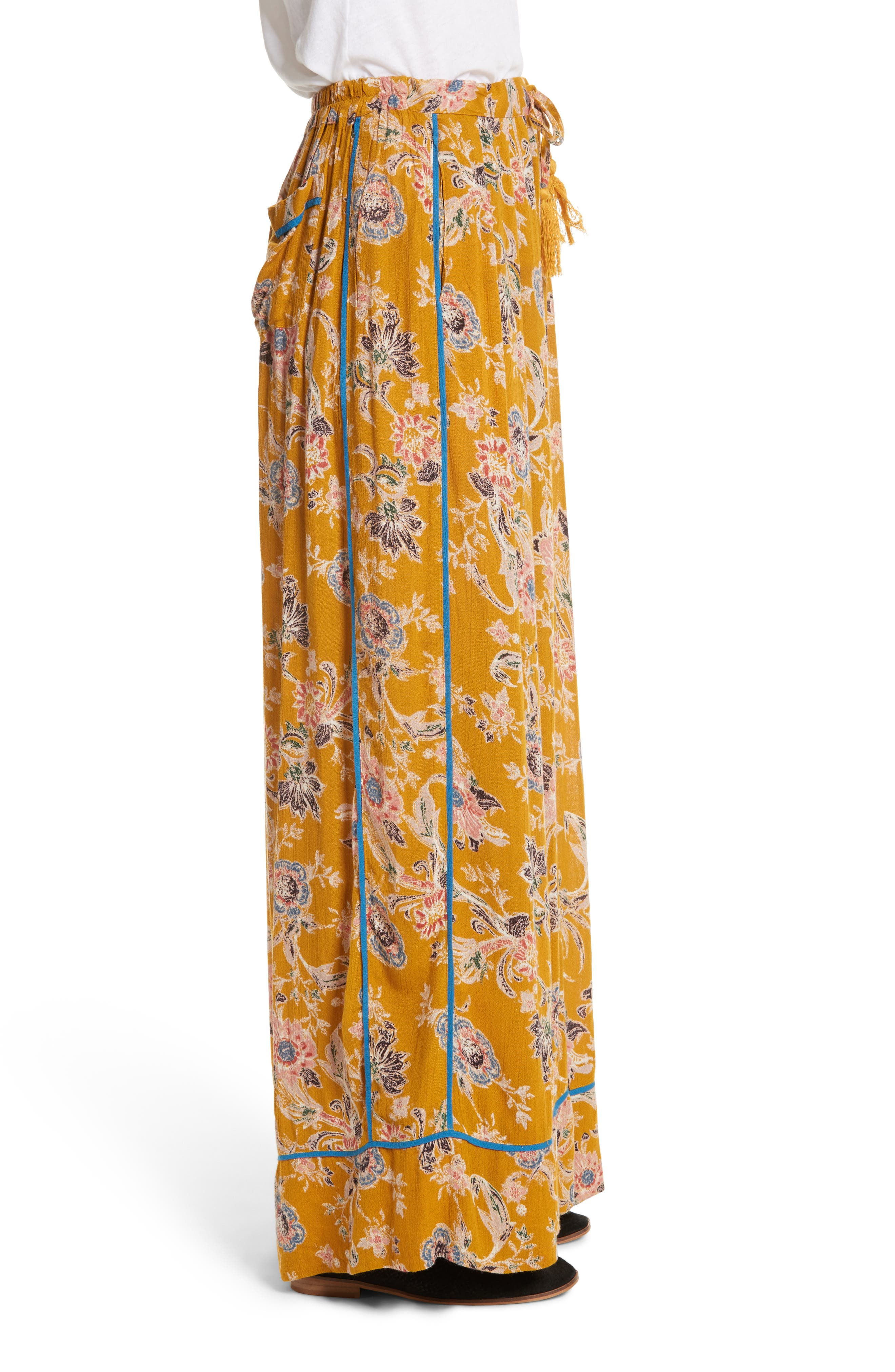 Bali Wildflower Wide Leg Pants,                             Alternate thumbnail 6, color,
