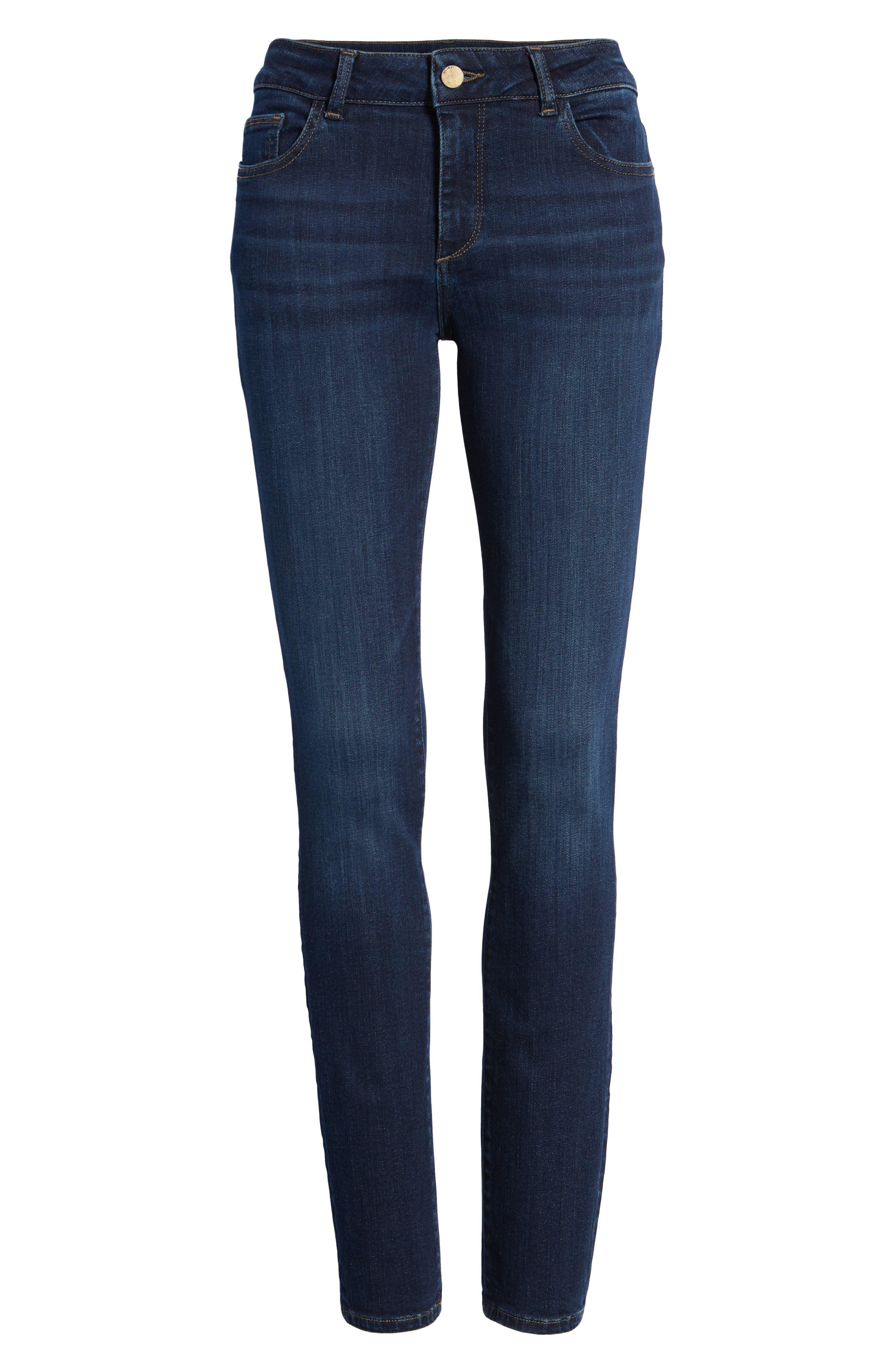DL1961,                             Florence Instasculpt Skinny Jeans,                             Alternate thumbnail 6, color,                             410