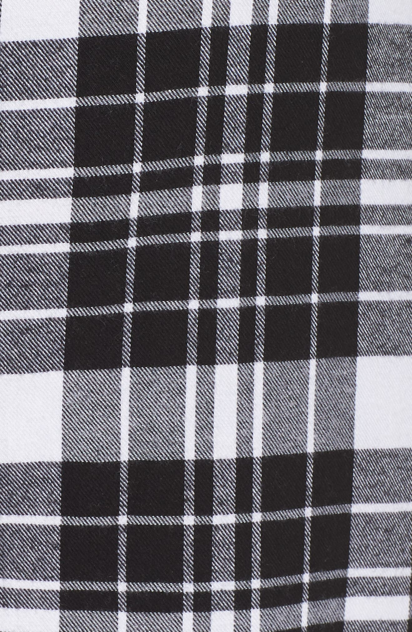 Long Flannel Nightshirt,                             Alternate thumbnail 5, color,                             001