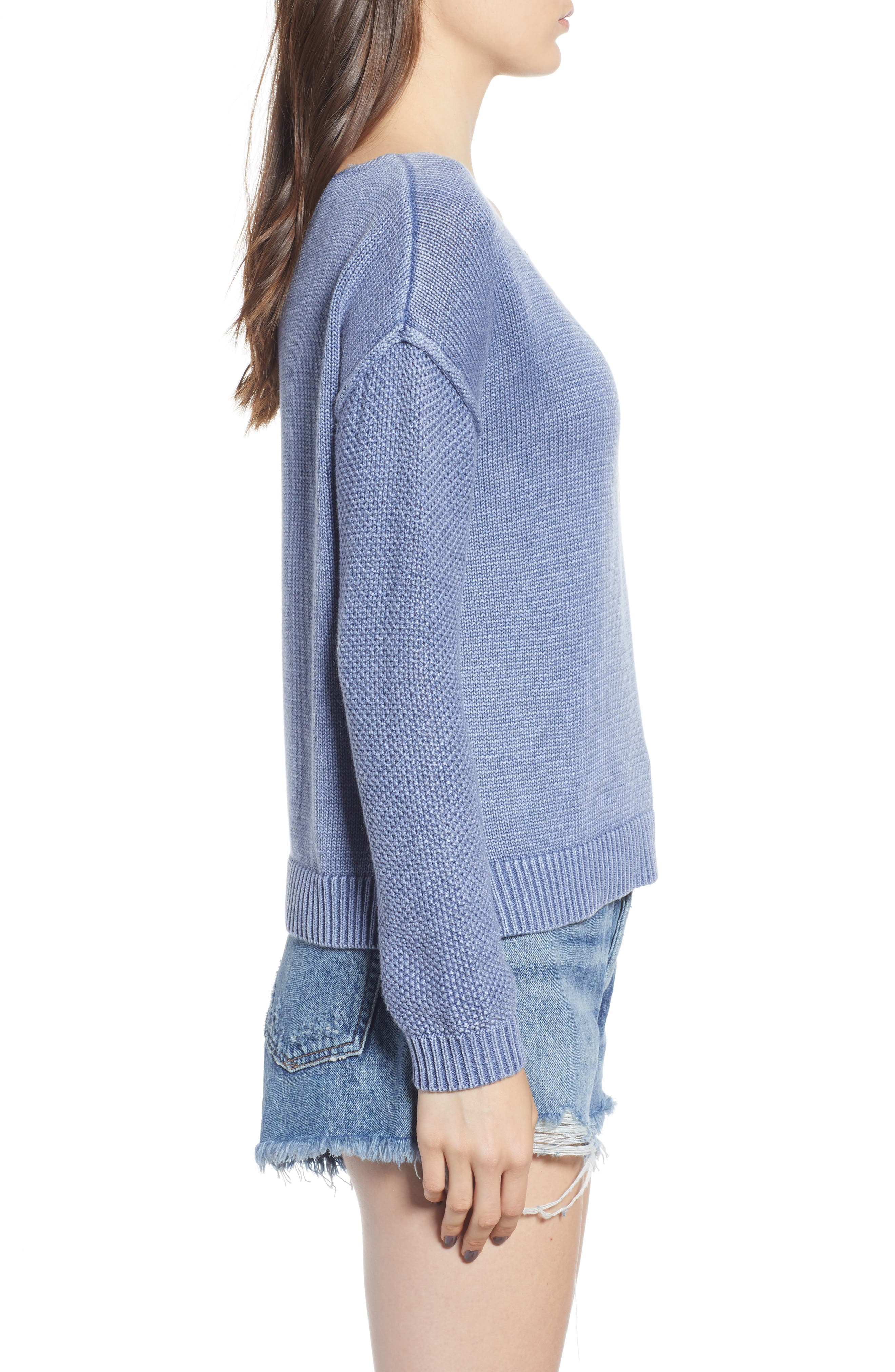 Erin Knit Sweater,                             Alternate thumbnail 3, color,                             410