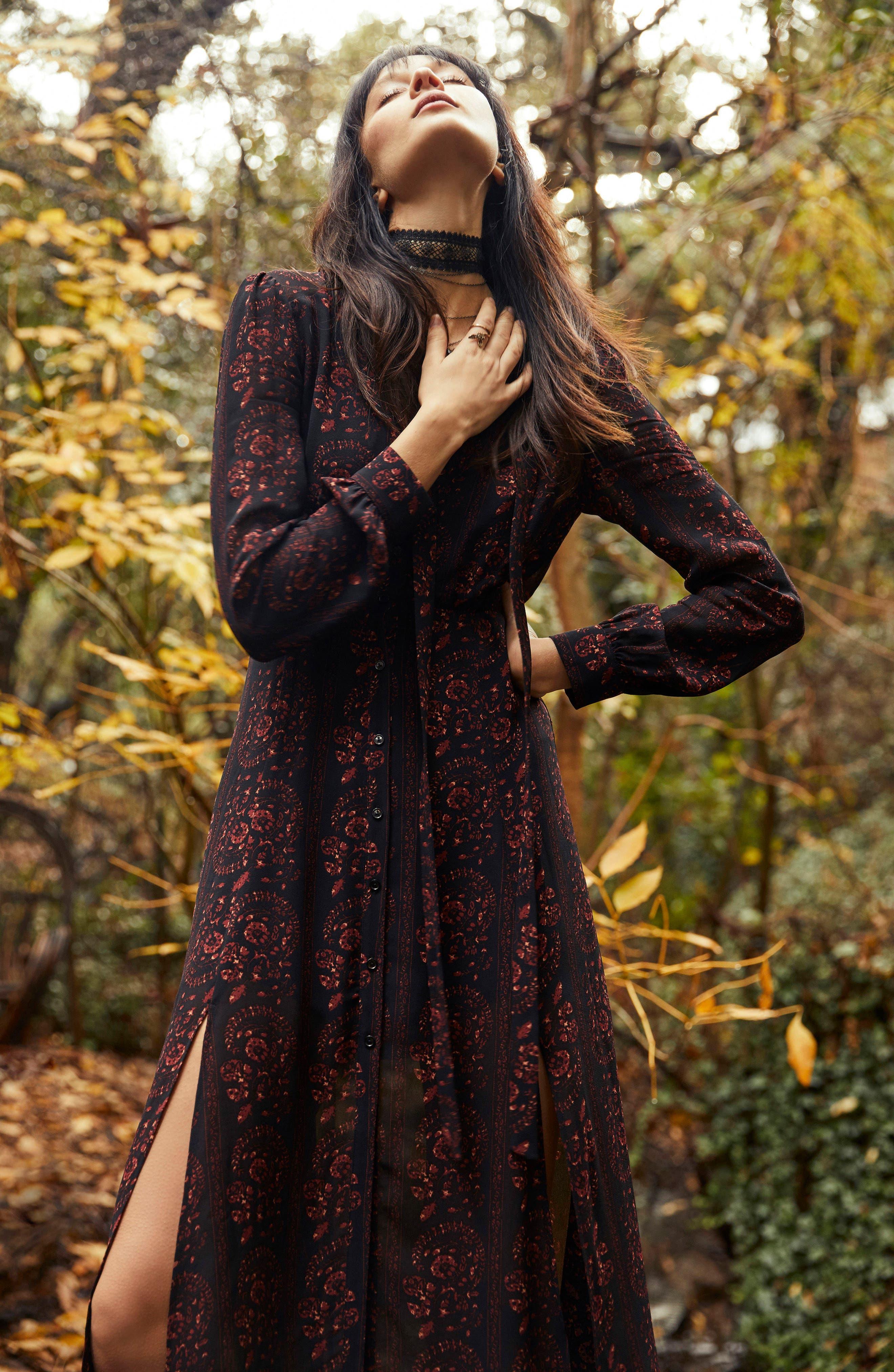 Natalie Midi Dress,                             Alternate thumbnail 8, color,                             004