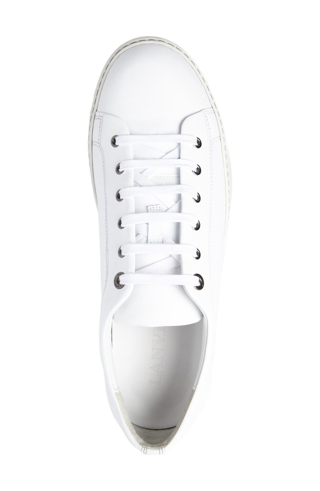 Low Top Cap Toe Sneaker,                             Alternate thumbnail 3, color,                             101